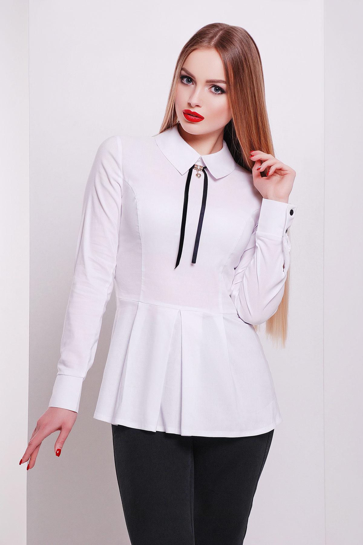 c81b03076a1 белая блузка для офиса. блуза Бергамо д р. Цвет  белый