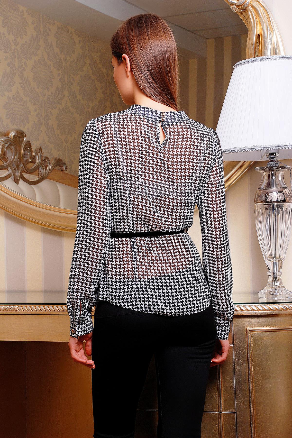 9e3cfad6d84 Блуза Энни д р. Цвет  черный-белый узор - купить оптом и в розницу в ...
