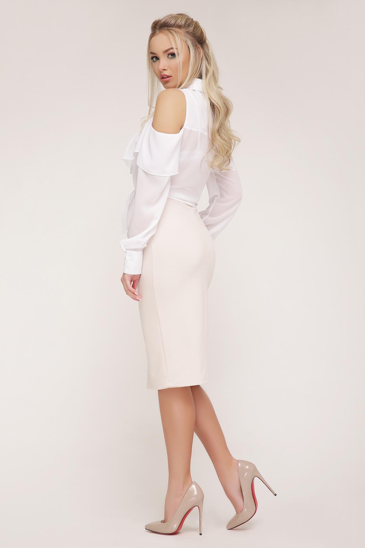 1f15ee0376b Цвет  белый купить  белая шифоновая блузка. блуза Джанина д р. Цвет  белый  цена