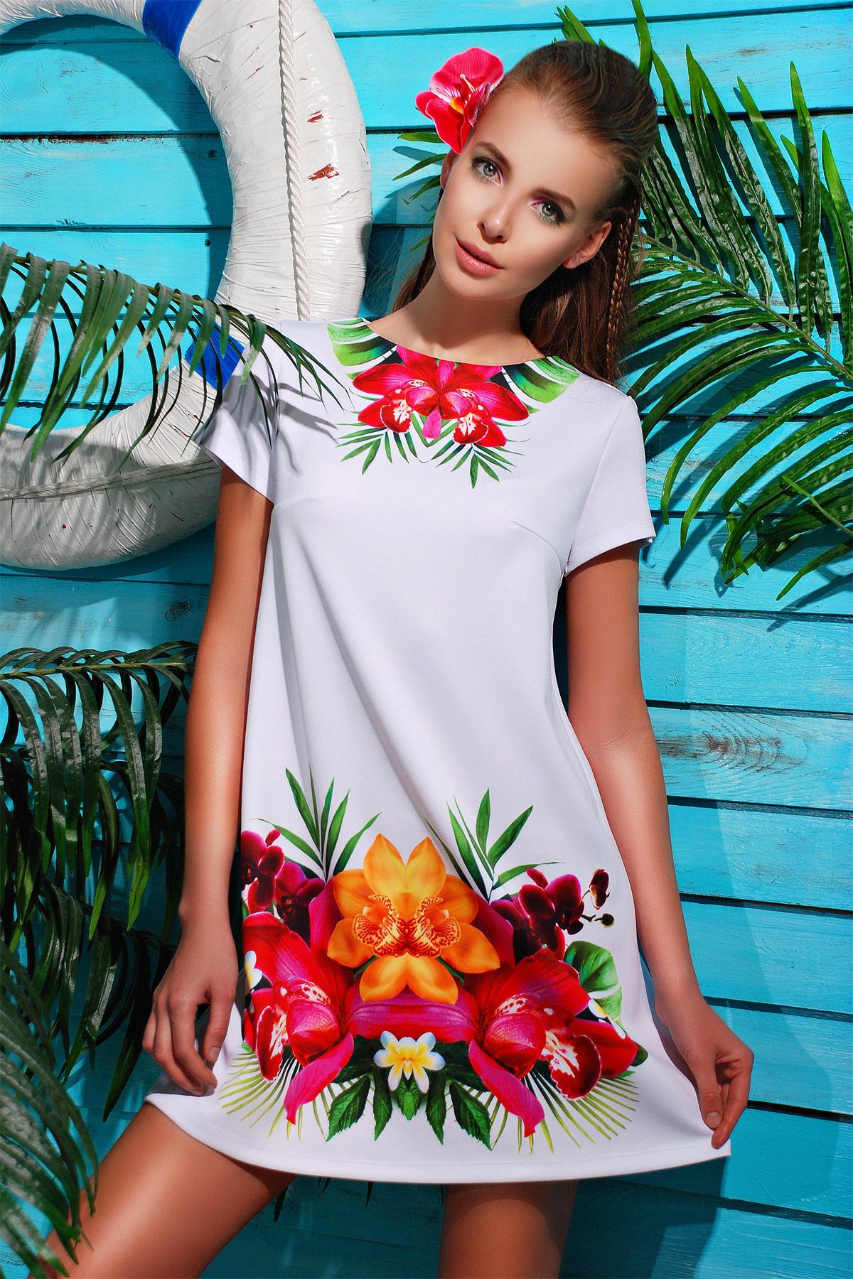 Орхидея платье Тая-2Б к/р. Цвет: принт