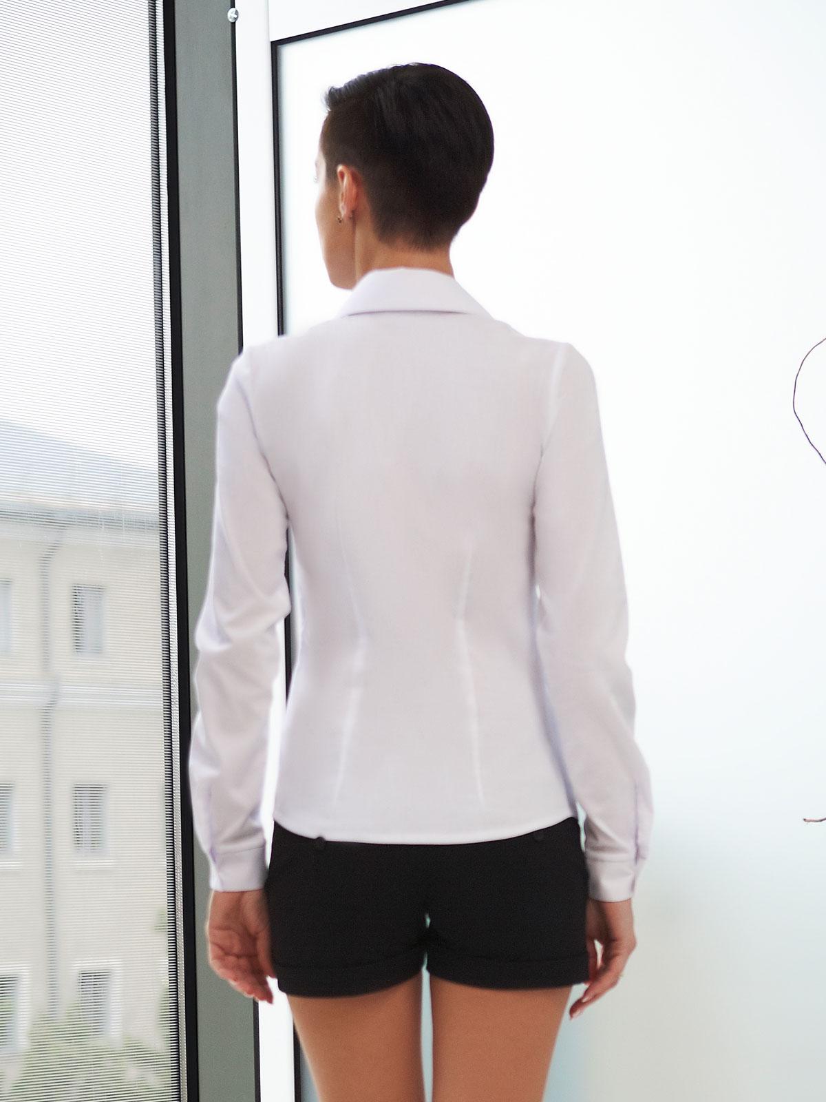 ea754b82249 женская белая рубашка с длинным рукавом. блуза Марта д р.