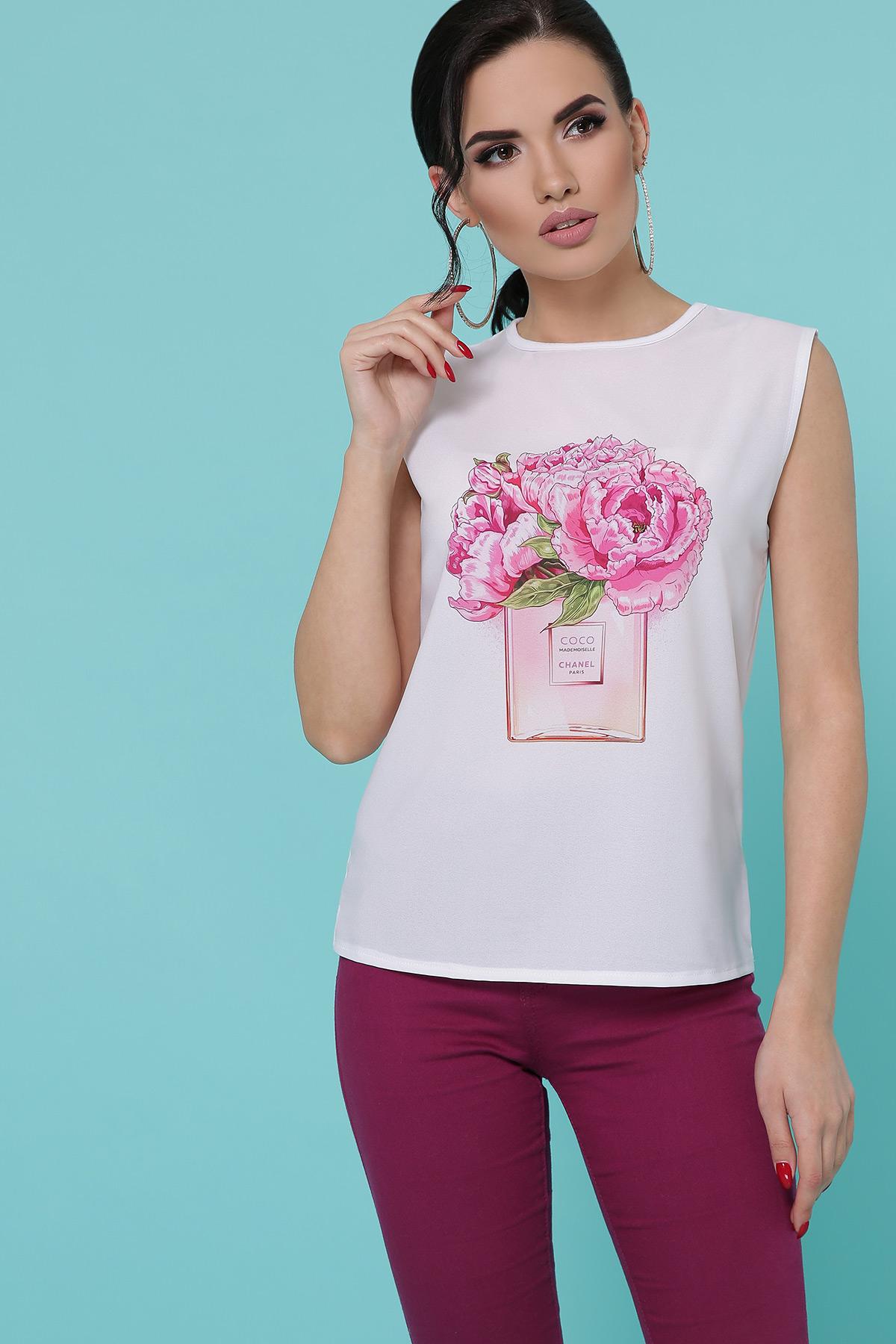 Парфюм Пионы футболка Киви б/р. Цвет: белый