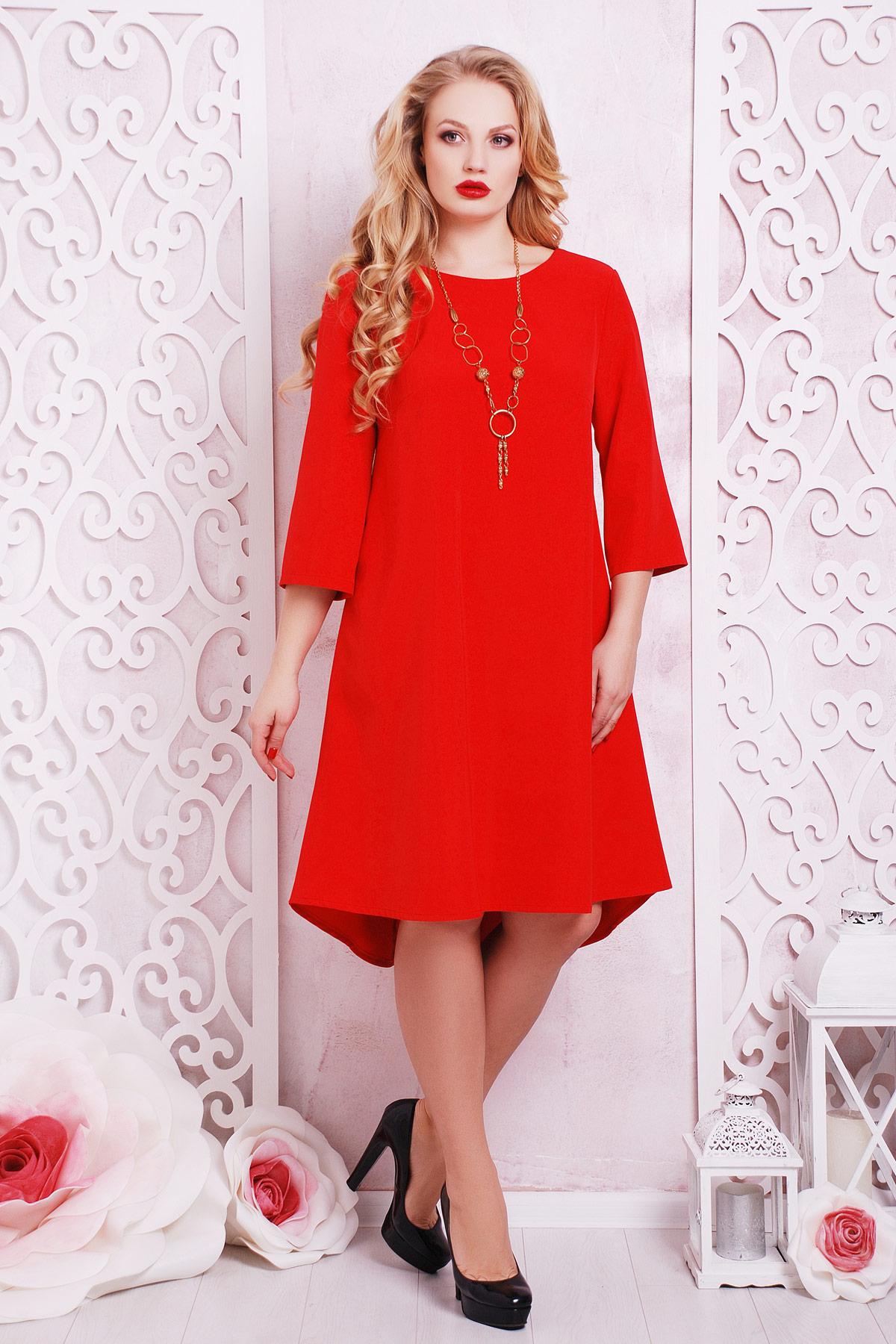 4a0c0505f07 алое платье большого размера. платье Лагуна-Б д р. Цвет  алый