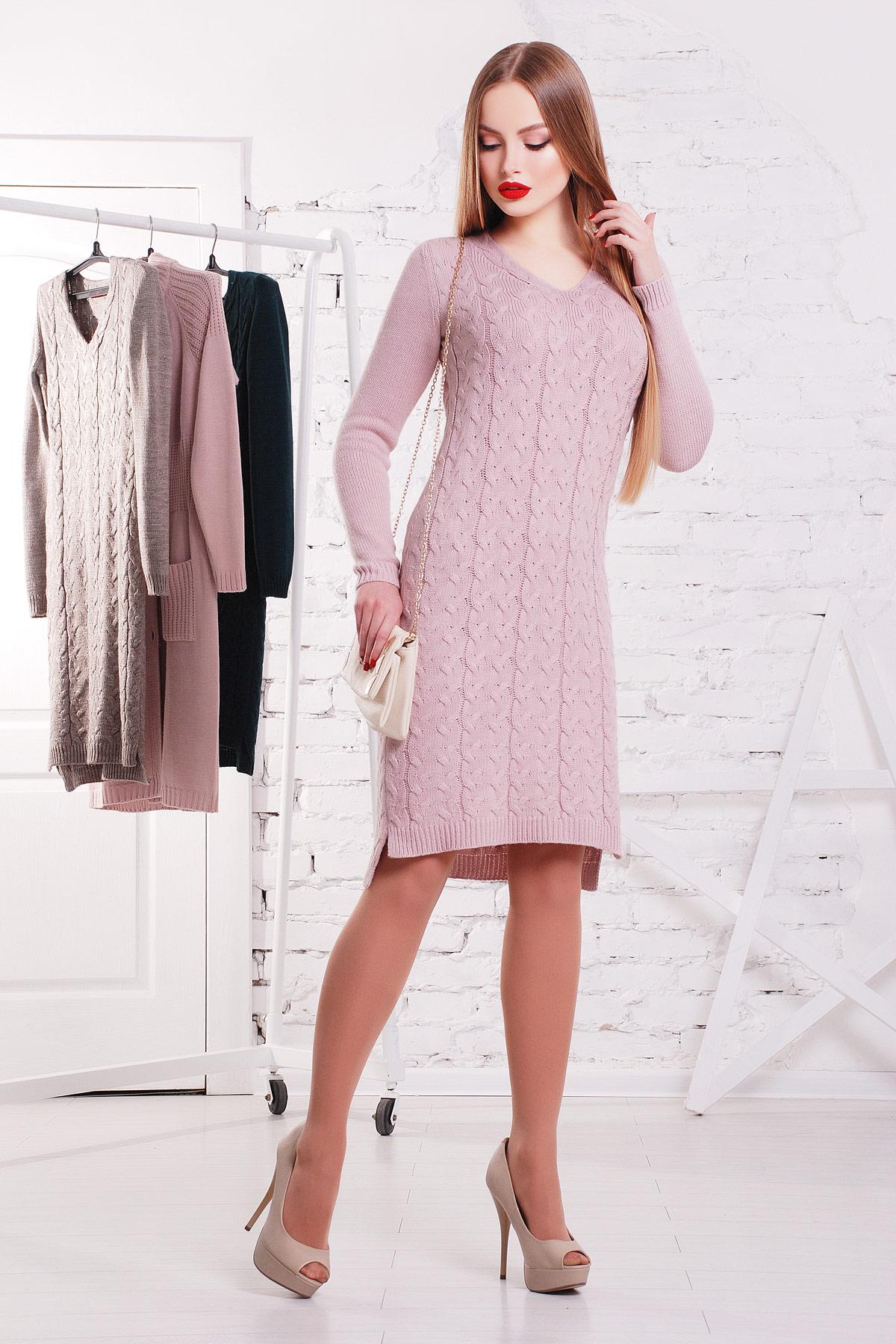 Платье 3045. Цвет: пудра
