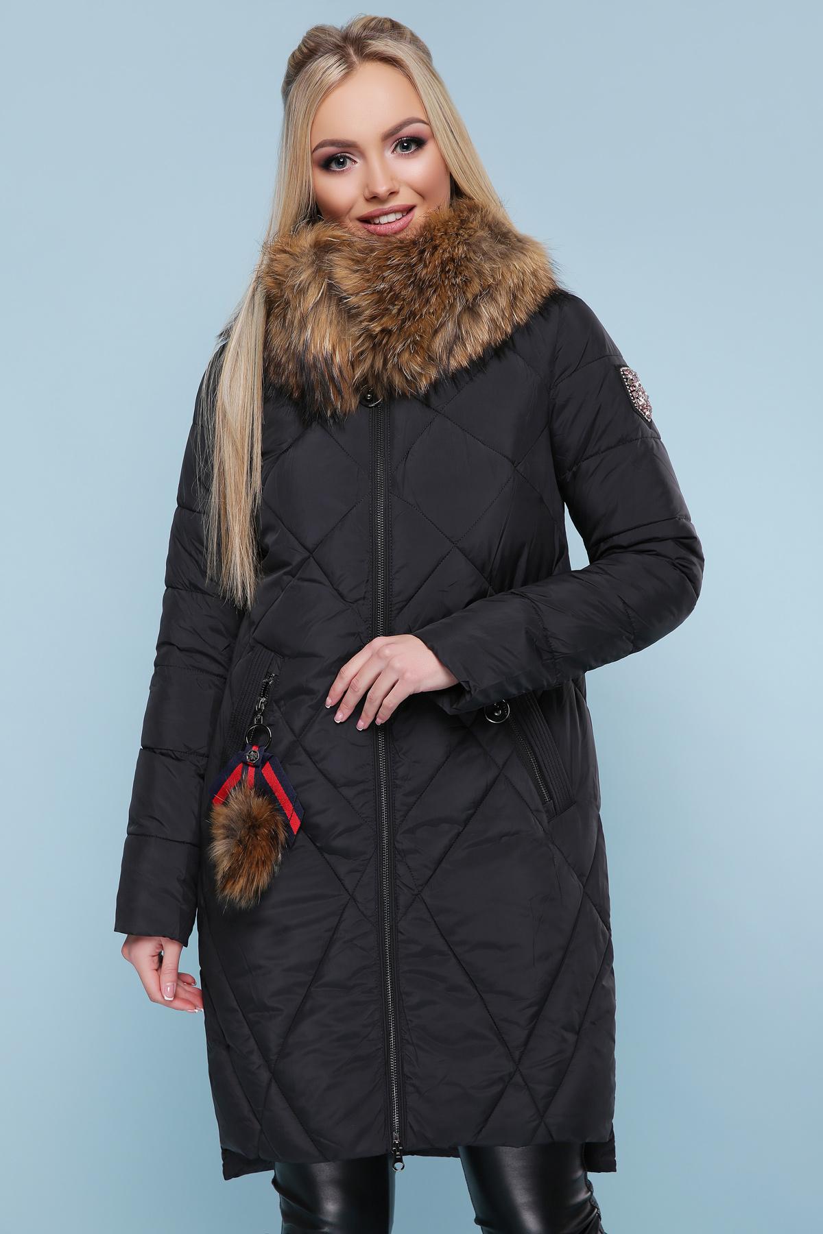 42fb6ca2119 черная куртка с меховой опушкой. Куртка 812. Цвет  черный