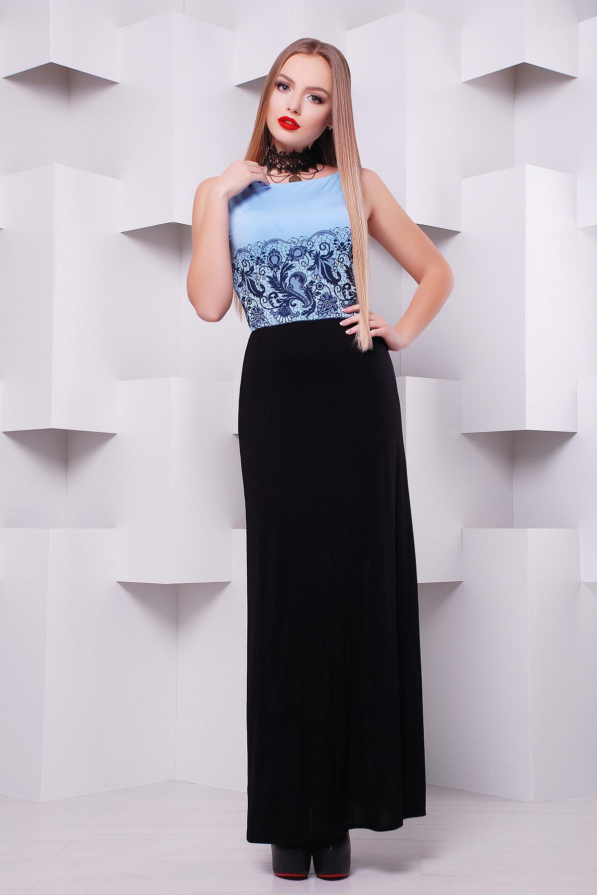 Черное платье верху длинное