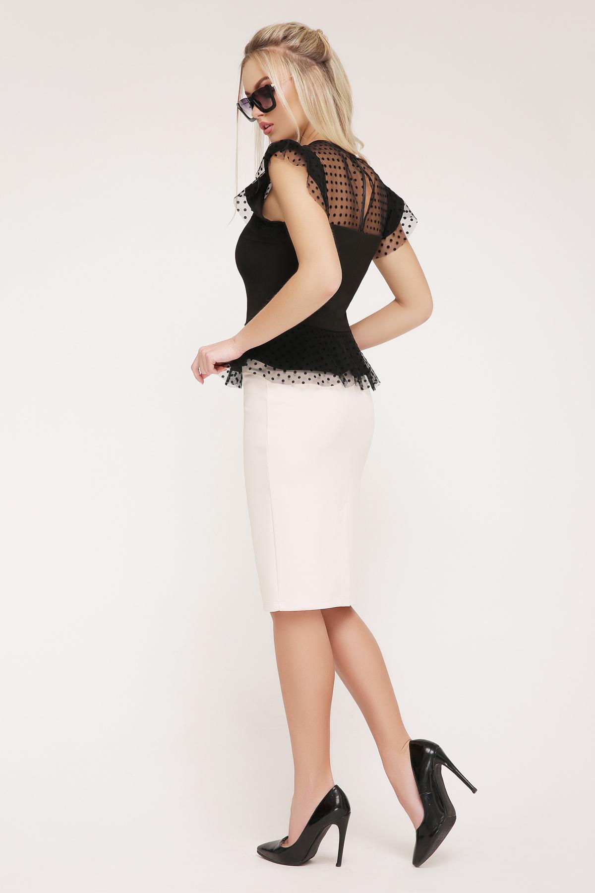 daa5060ffad Цвет  черный купить  черная блузка с баской. блуза Лайза б р. Цвет  черный  цена