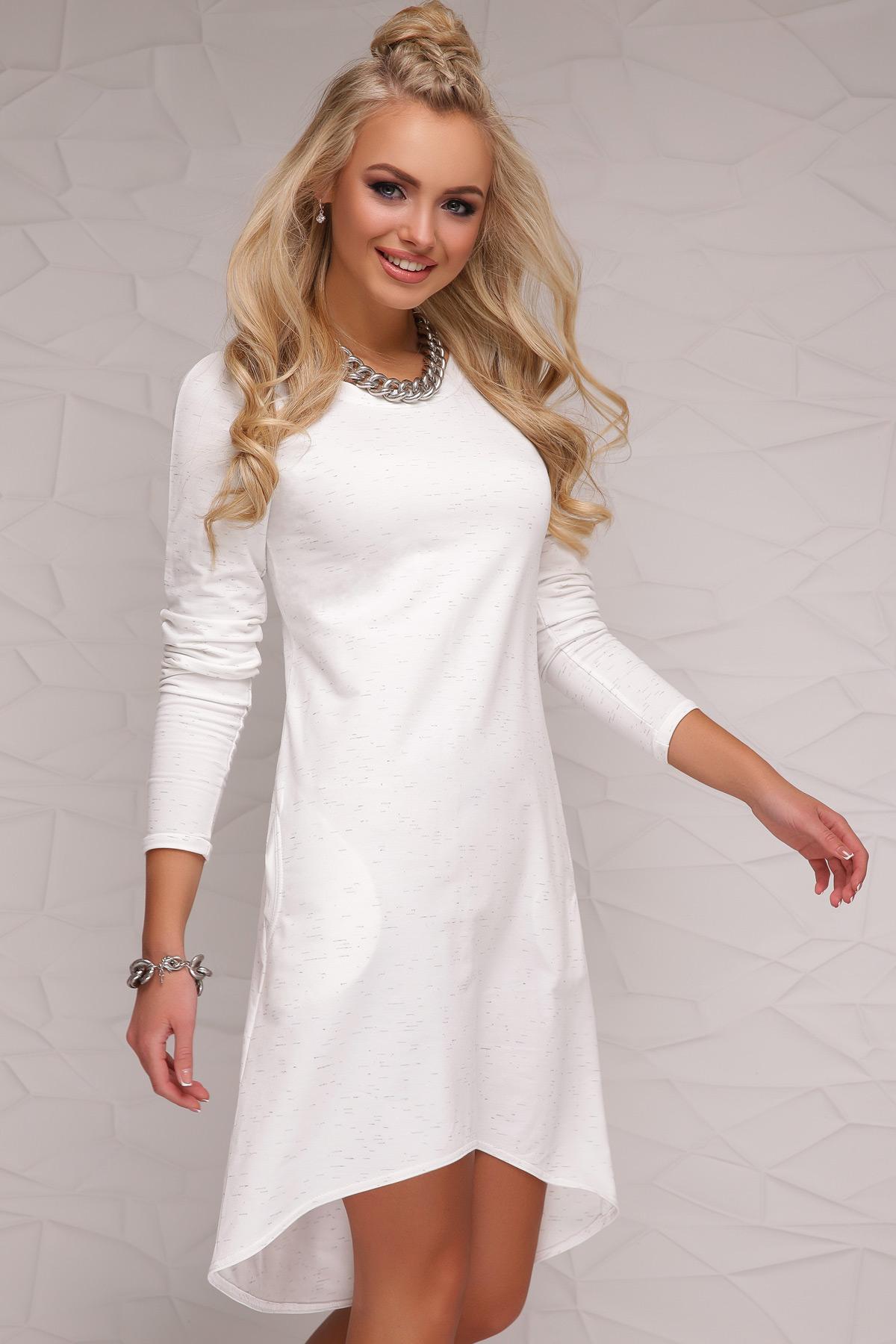 c626e238ba4ee42 Белое молодежное платье. платье Сабина Р д/р. Цвет: белый