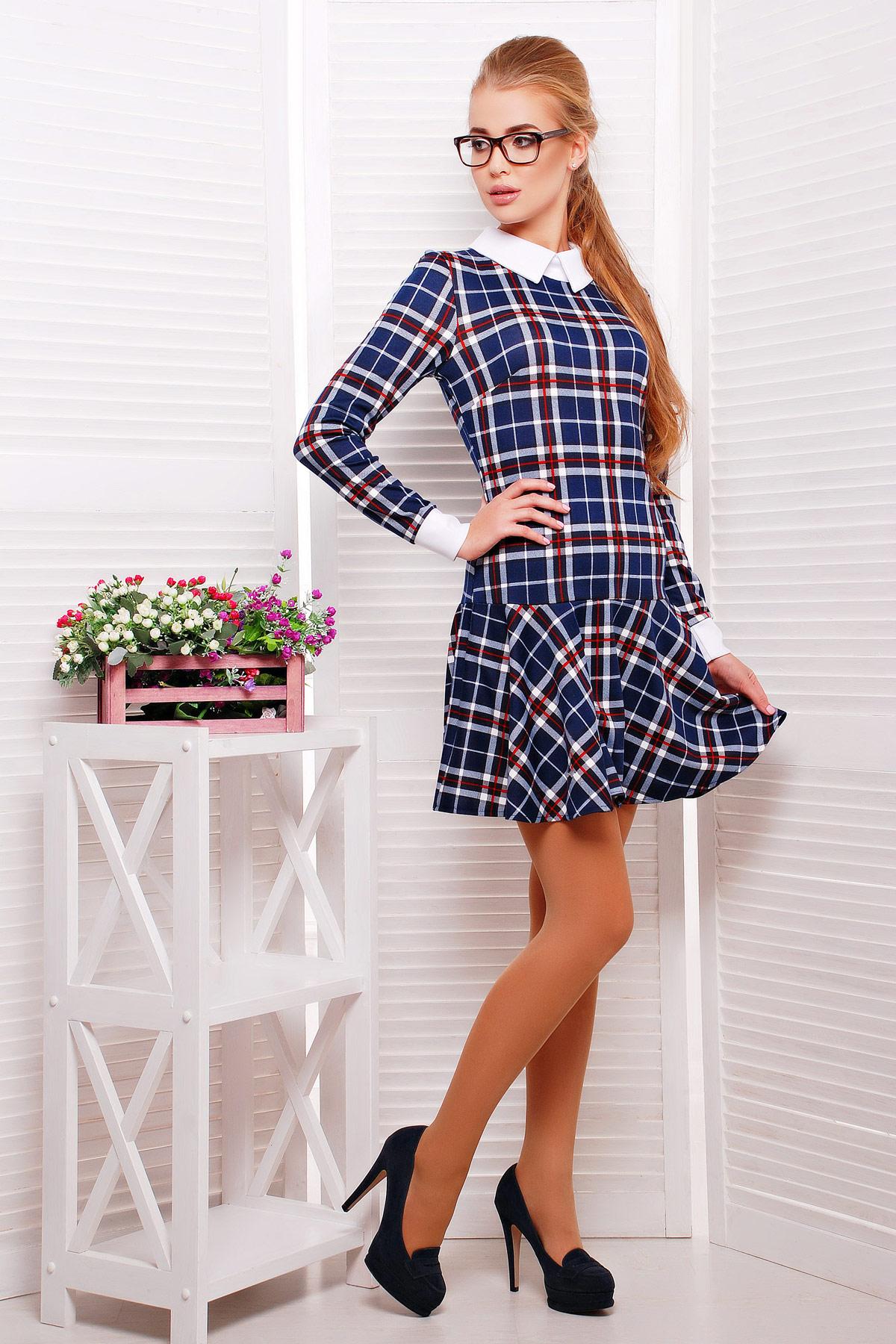 Женское платье с заниженной талией