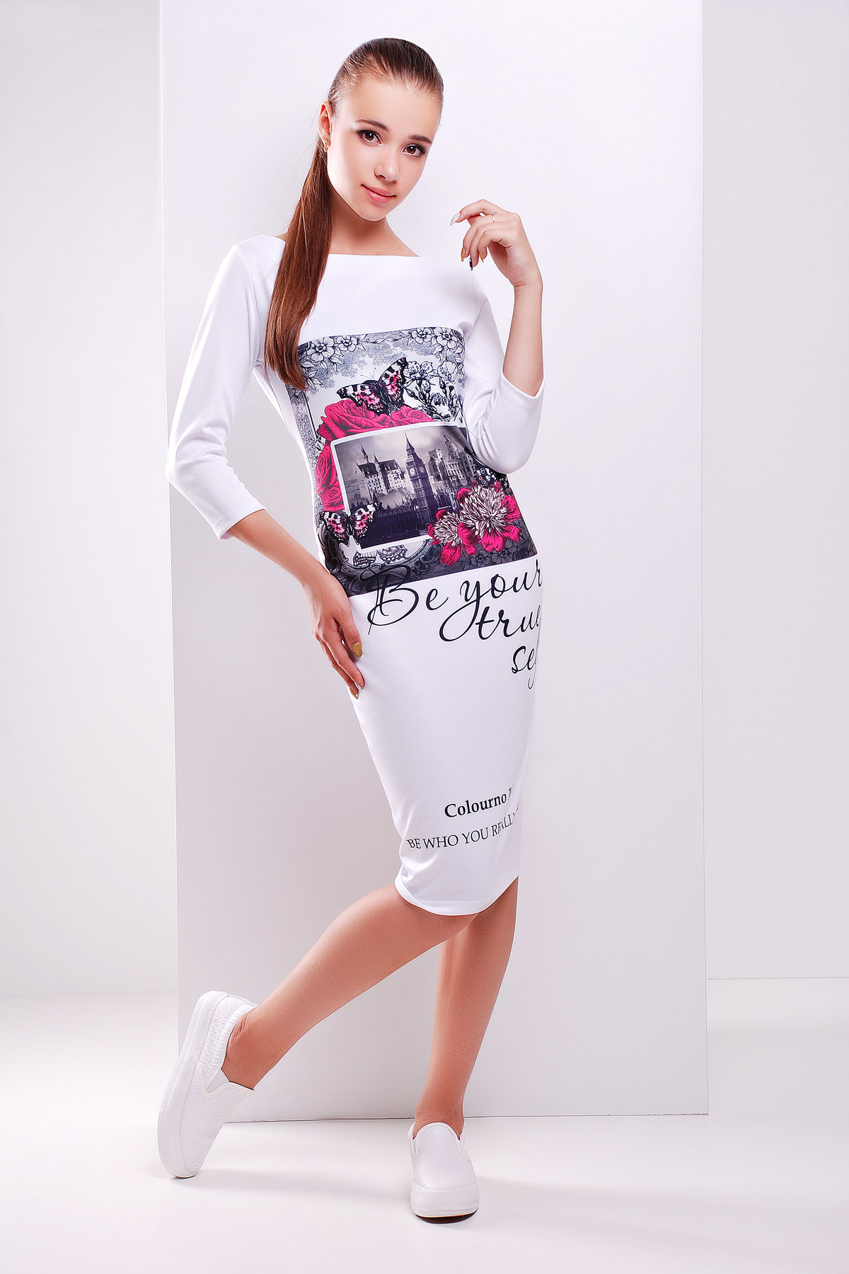 Платья миди белые купить