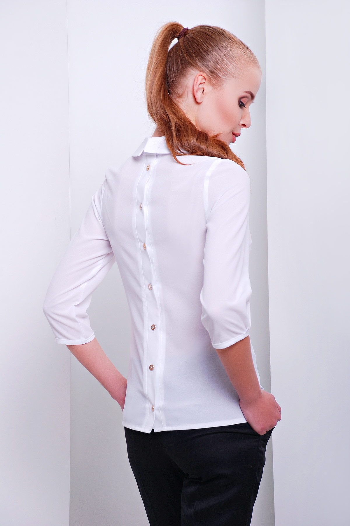 d42d29bfe4e белая офисная блузка из шифона. блуза Келли д р. Цвет  белый купить