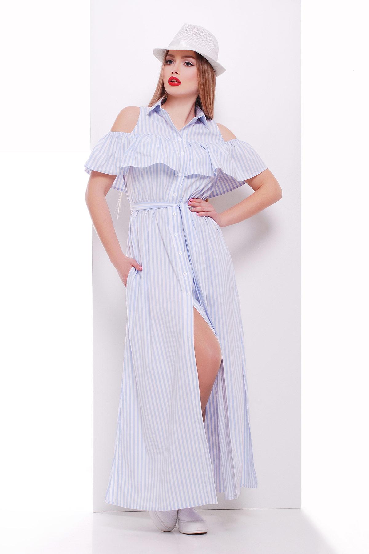 ae0f93df7248 платье Лаванья б/р. Цвет: голубая полоска