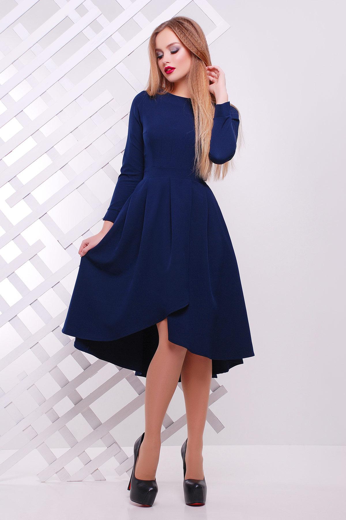 Цветы синие платье