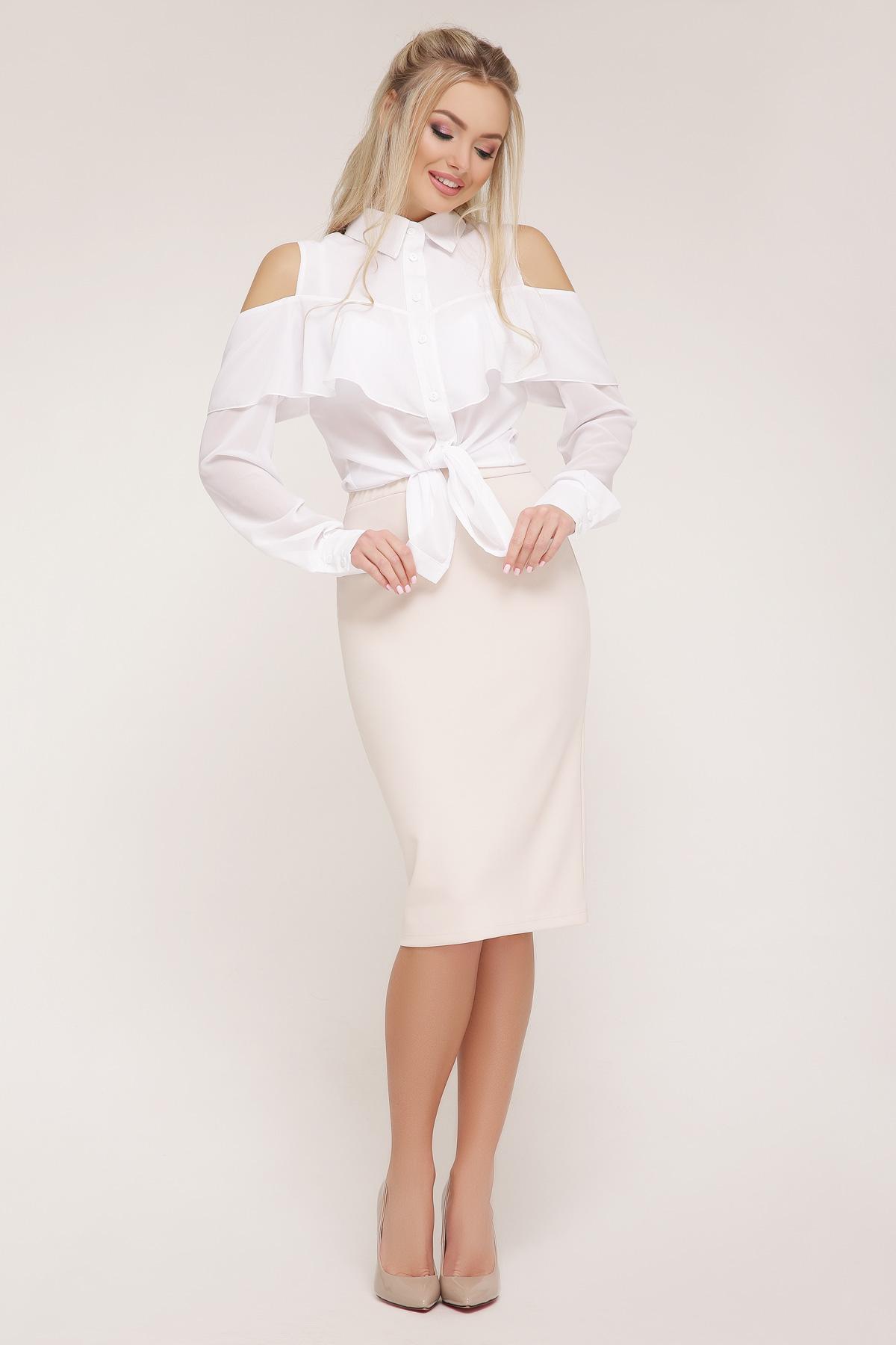 82435a2de0b белая шифоновая блузка. блуза Джанина д р. Цвет  белый купить ...