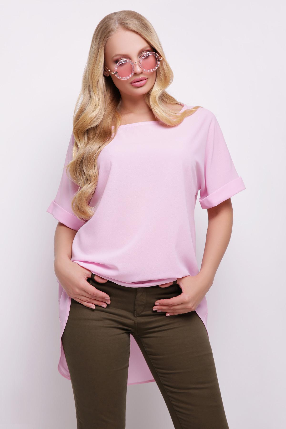 8d2c8f65f7c7 Розовая туника для полных женщин Лаура-Б к р - купить в Украине