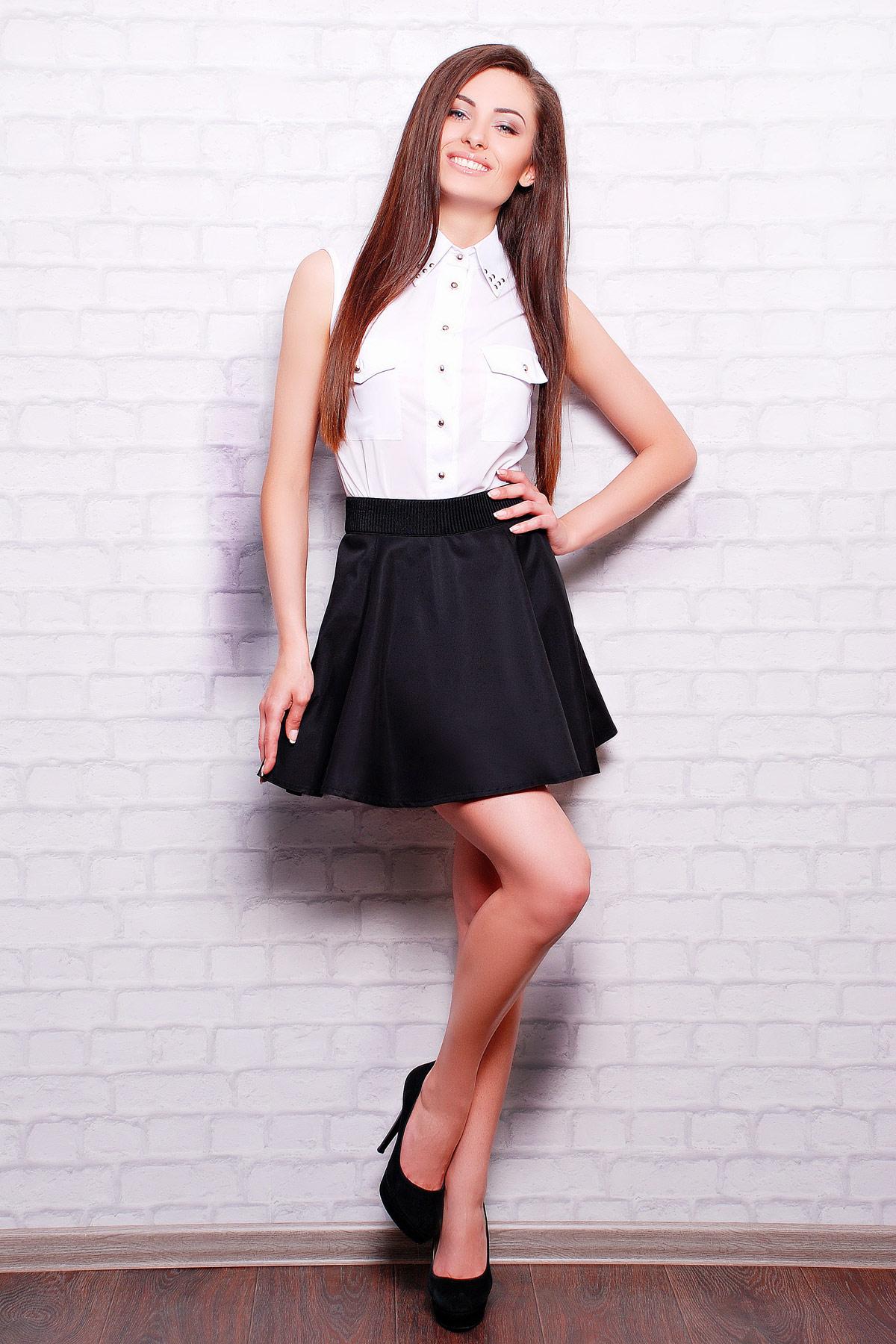 b29cda69254 Короткая расклешенная юбка темно-синего цвета. юбка Клин Мэмори. Цвет   черный