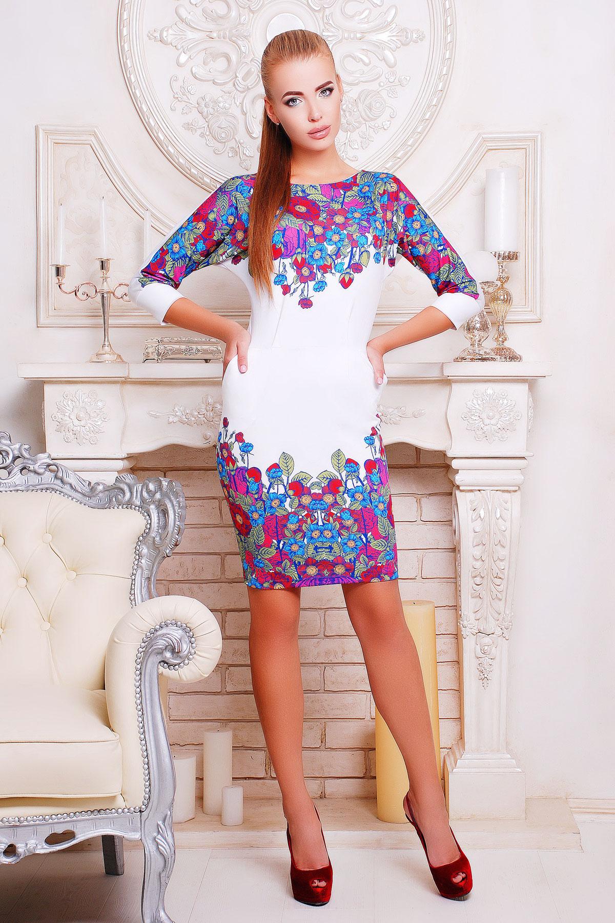 f8a4c4fd745 Цветочки платье Эльза-2 д р. Цвет  принт - купить оптом и в розницу ...