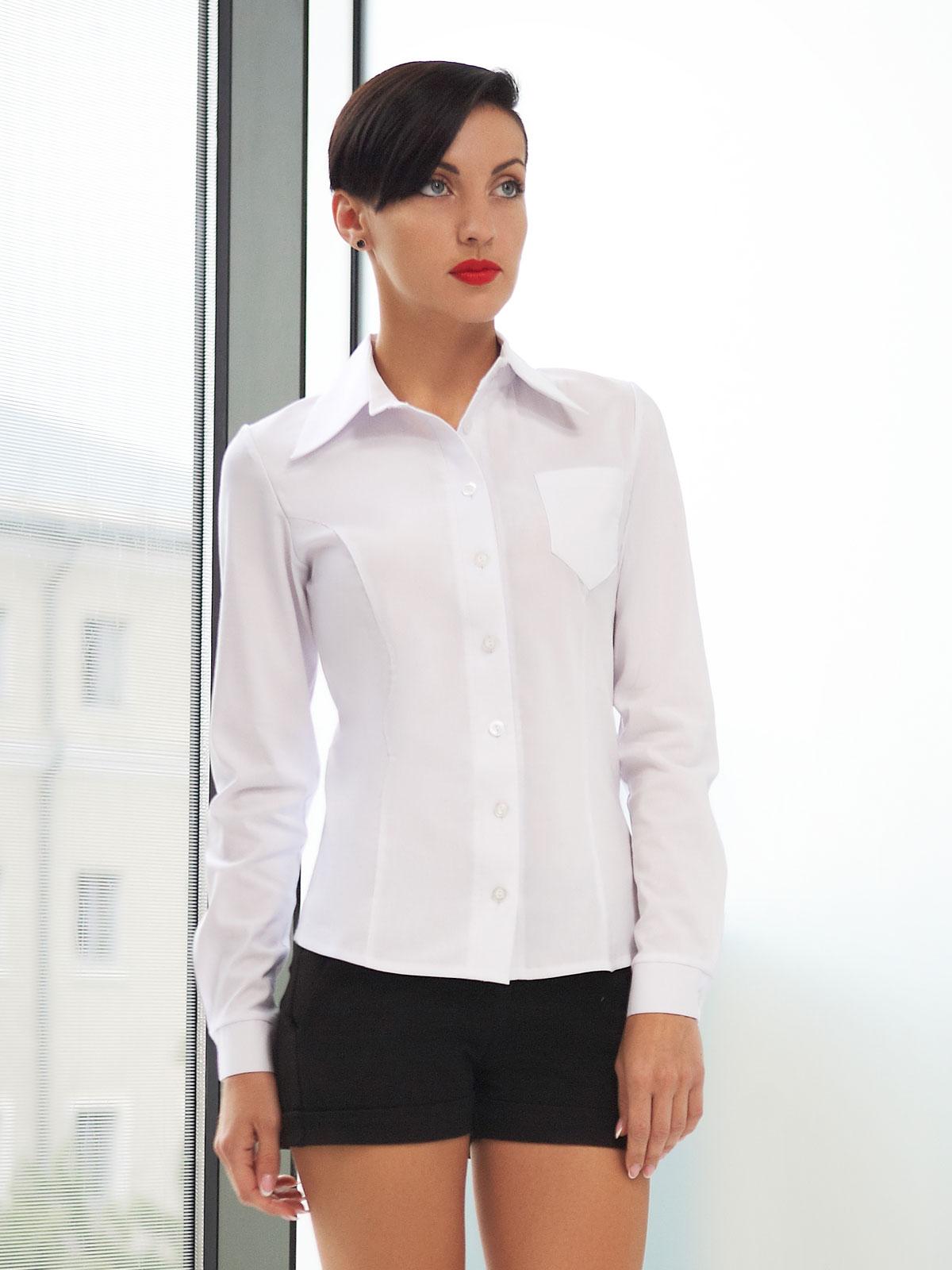 b90f8fdb6d1c блуза Марта д/р. Цвет: белый бенгалин