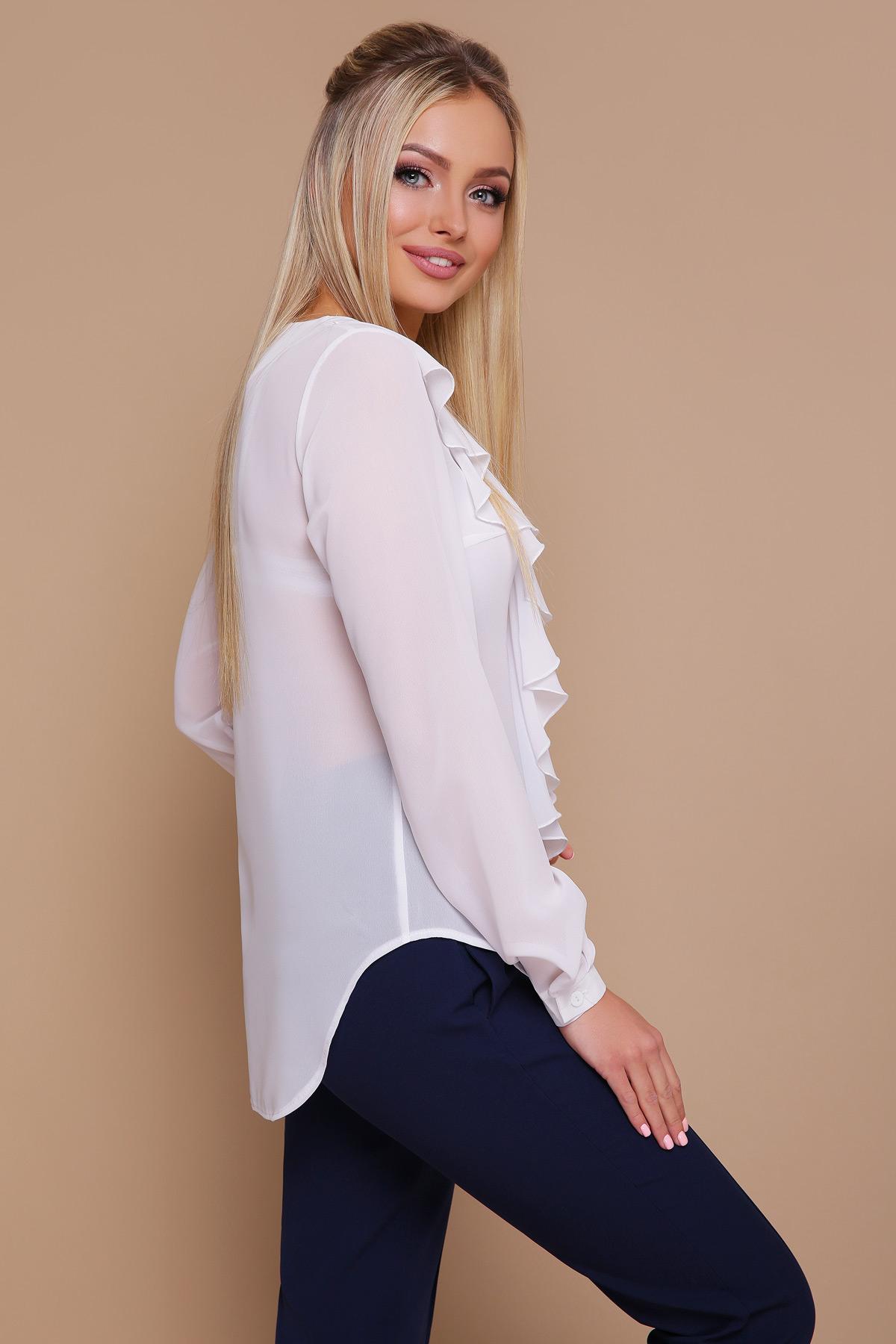 e9abda2cc6c черная блузка из шифона. блуза Сиена д р. Цвет  белый купить