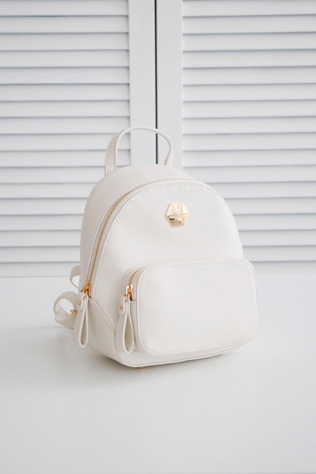 bac930a71cf2 женский мини рюкзак белого цвета. Рюкзак 5526-2. Цвет: белый