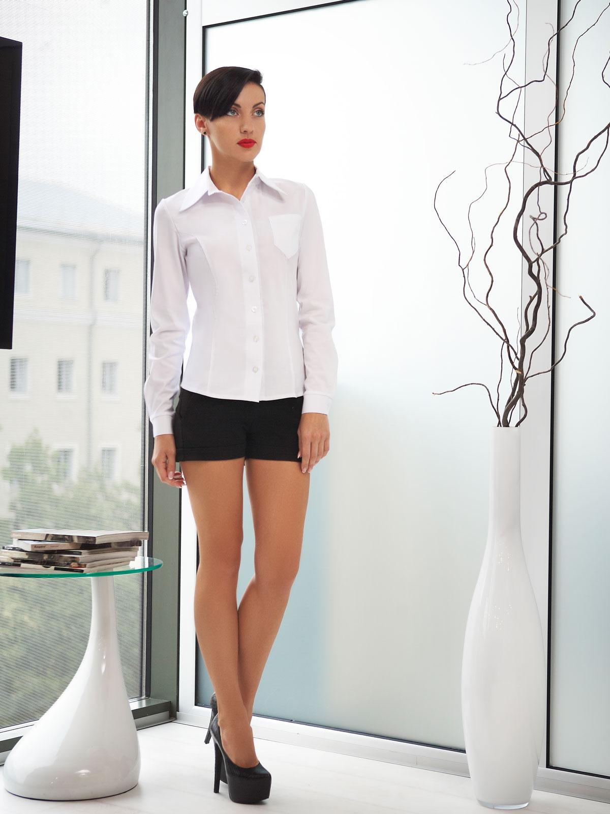 51ca597049ad0a2 Цвет: белый · женская белая рубашка с длинным рукавом. блуза Марта д/р.  Цвет: белый