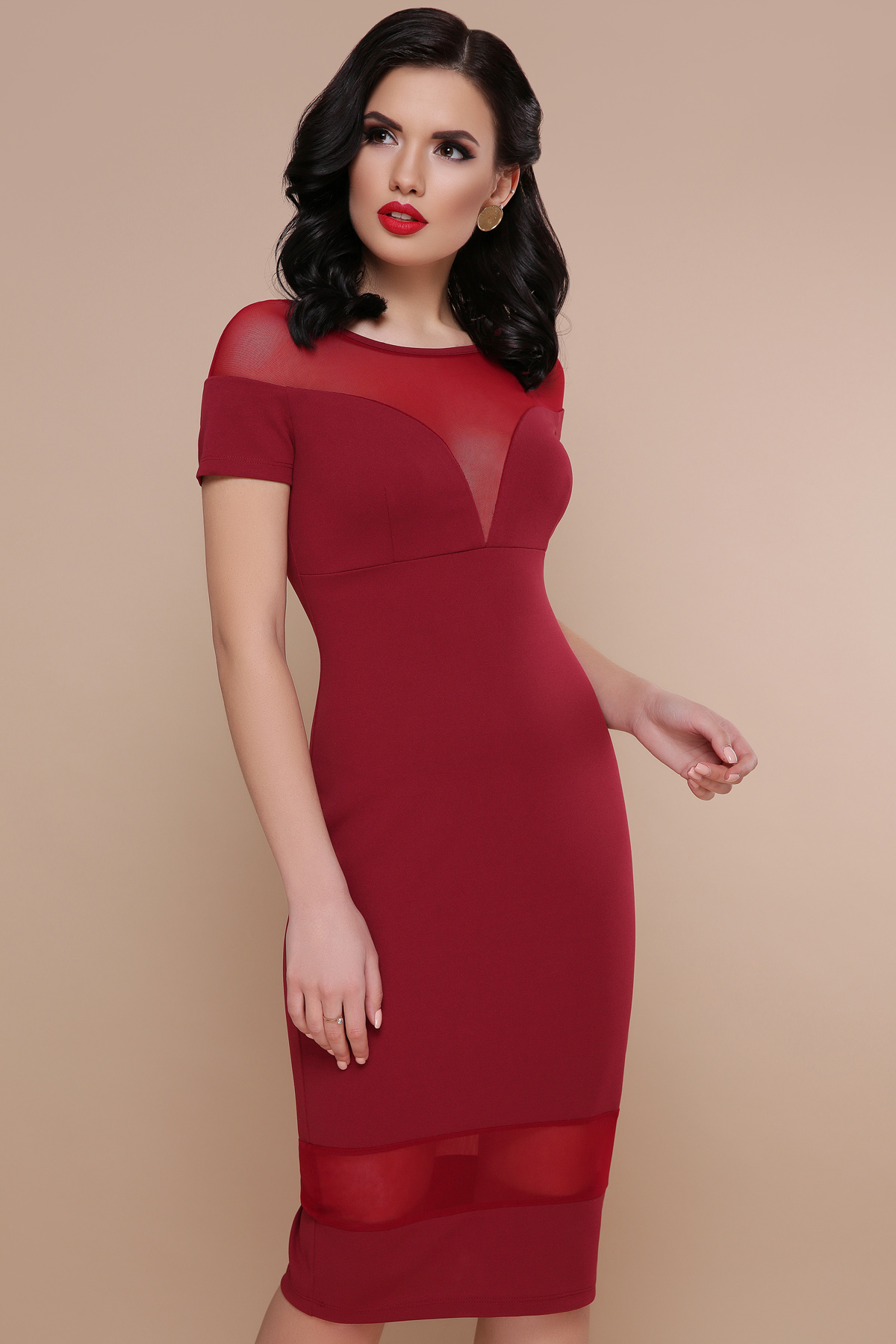 ffbff52e278 Цвет  бордо купить  персиковое платье на вечер. платье Владана 2 к р. Цвет   бордо цена