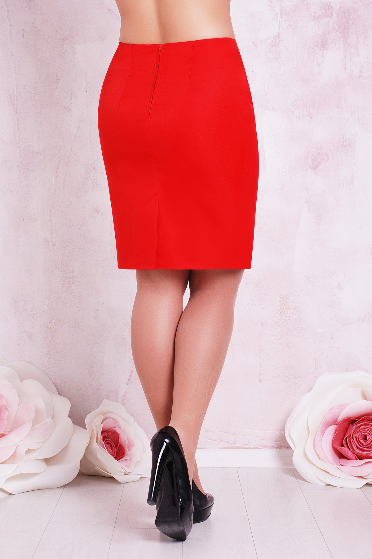 Купить красную юбку большого размера