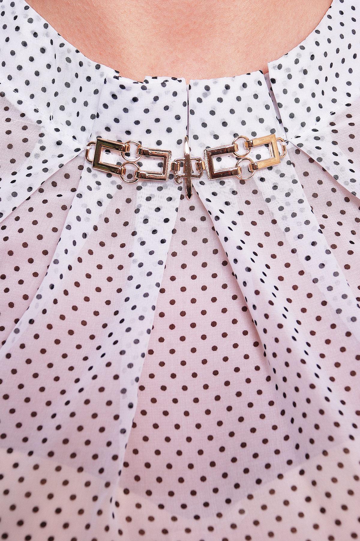 4519c222f04 Цвет  белый  Женская шифоновая блузка с ажурным узором. блуза Энни д р. Цвет   белый