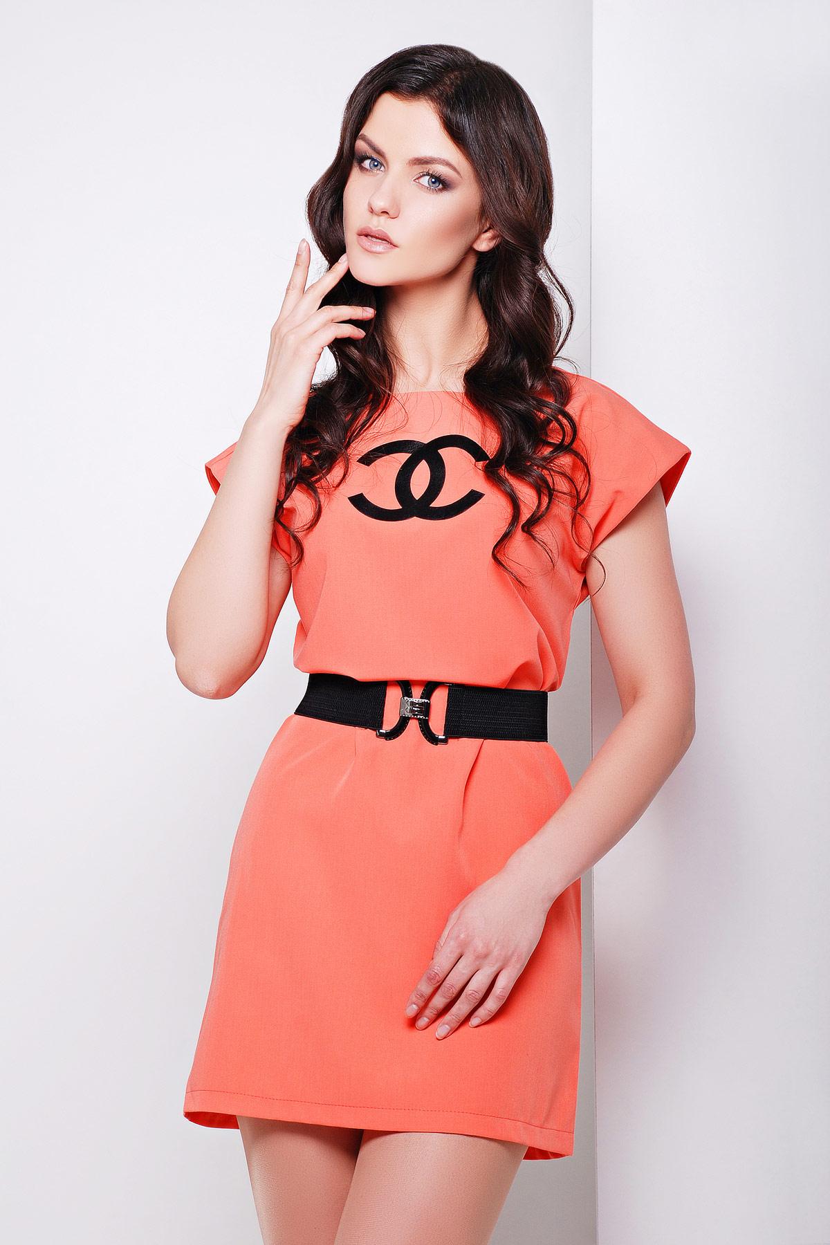 платье Шани б/р. Цвет: св. персиковый