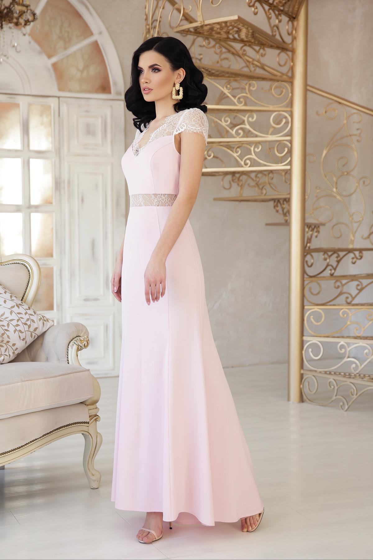 453e9362c711d04 бежевое вечернее платье. платье Алана к/р. Цвет: пудра купить ...