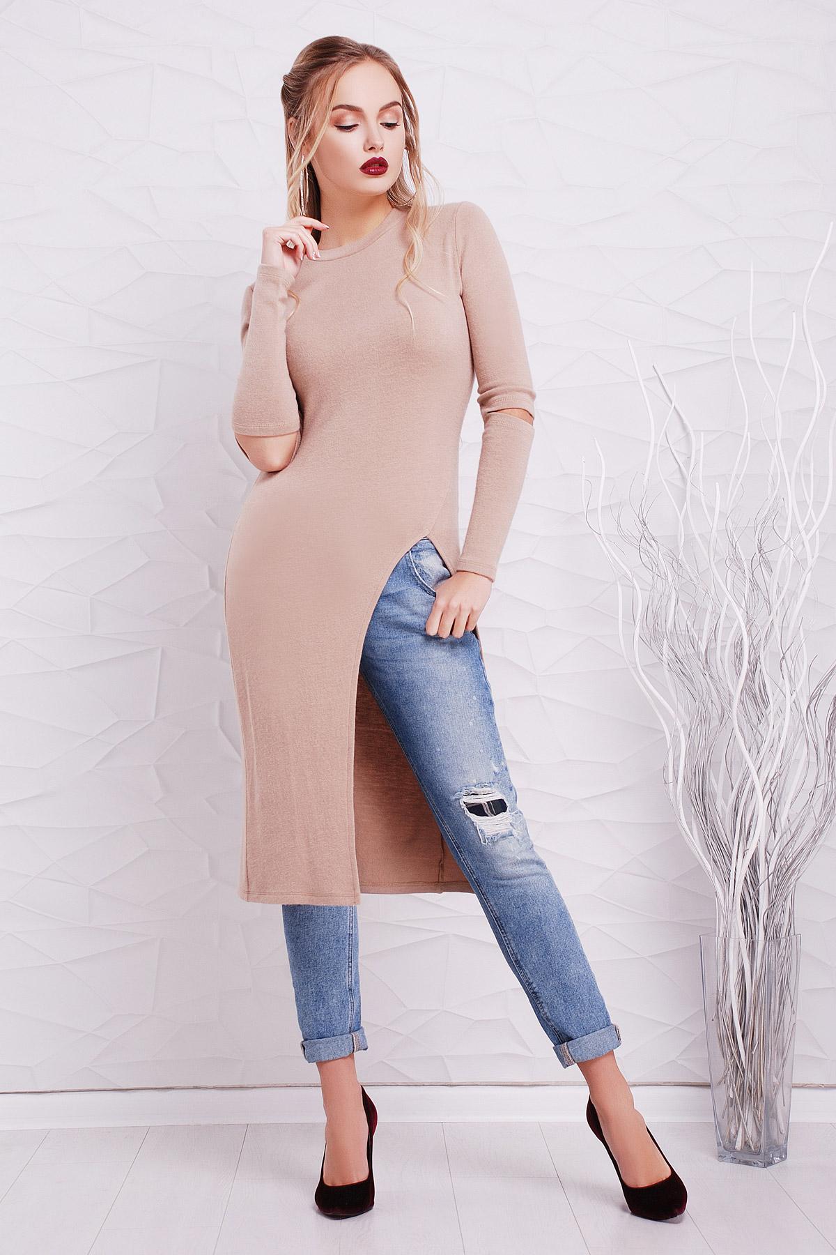 26ee2257a967 теплое платье туника. платье-туника Алекса д р. Цвет  бежевый