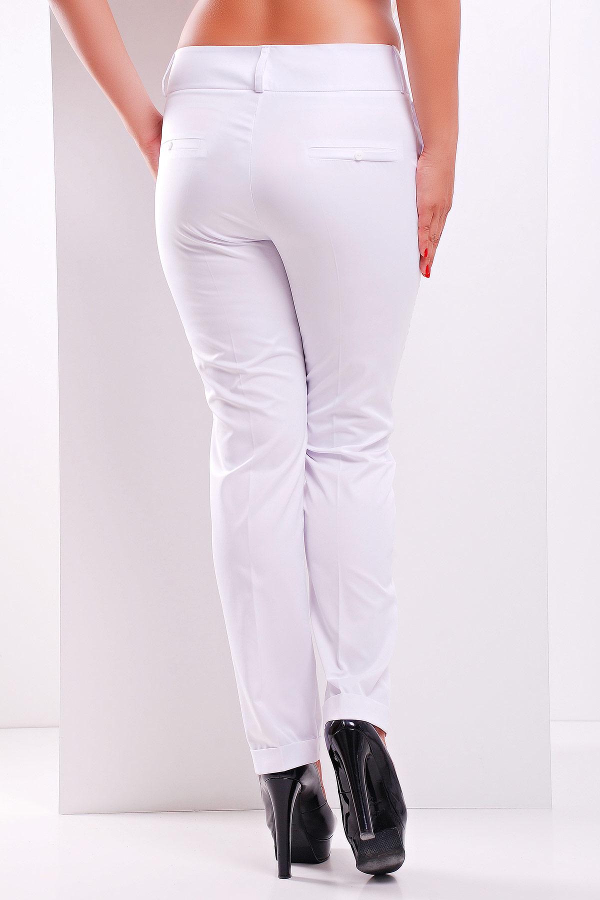 167fc9f6584 женские светлые брюки больших размеров. брюки Хилори-Б. Цвет  белый купить
