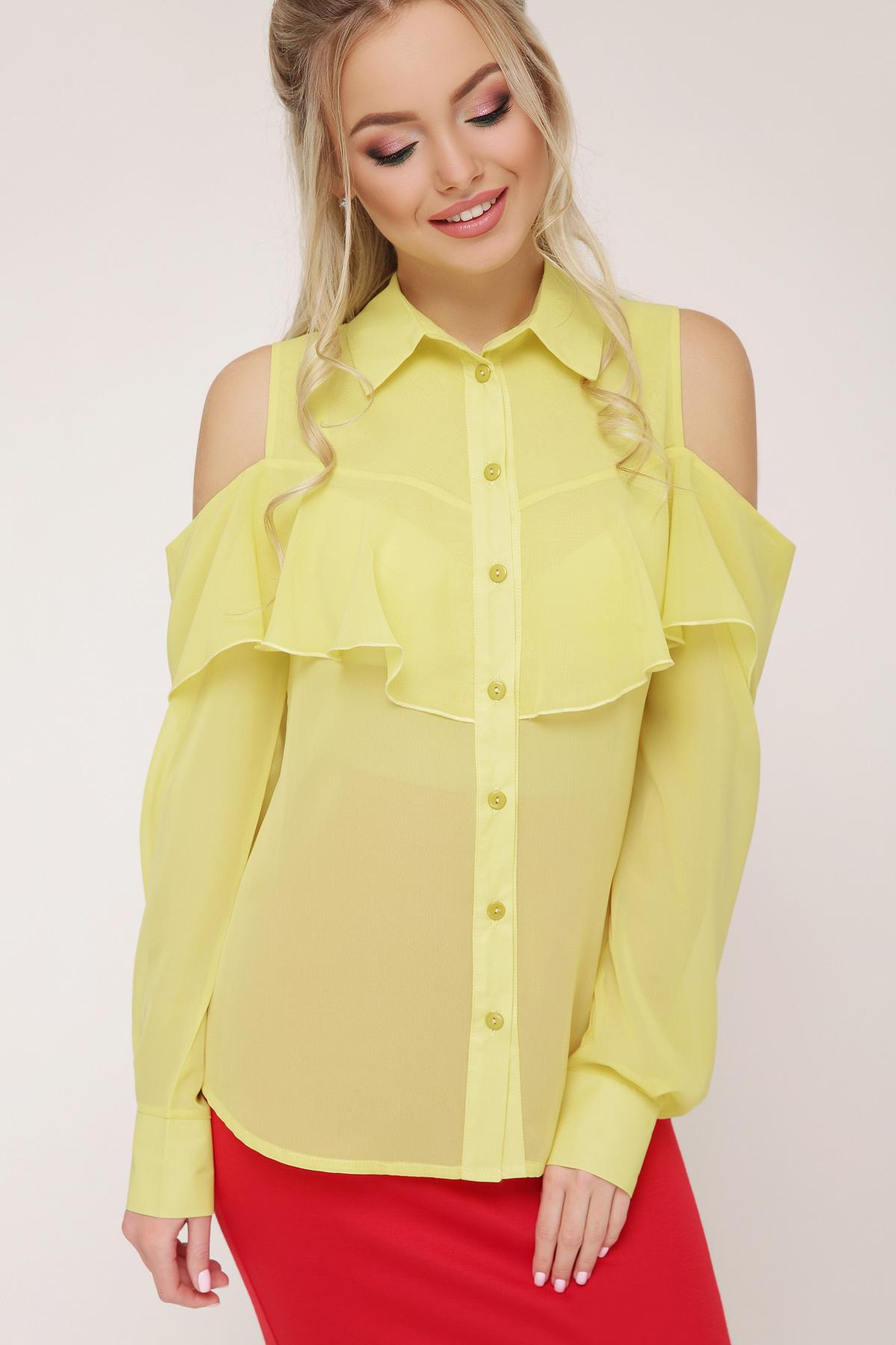 9ace30133ce желтая блузка из шифона. блуза Джанина д р. Цвет  желтый