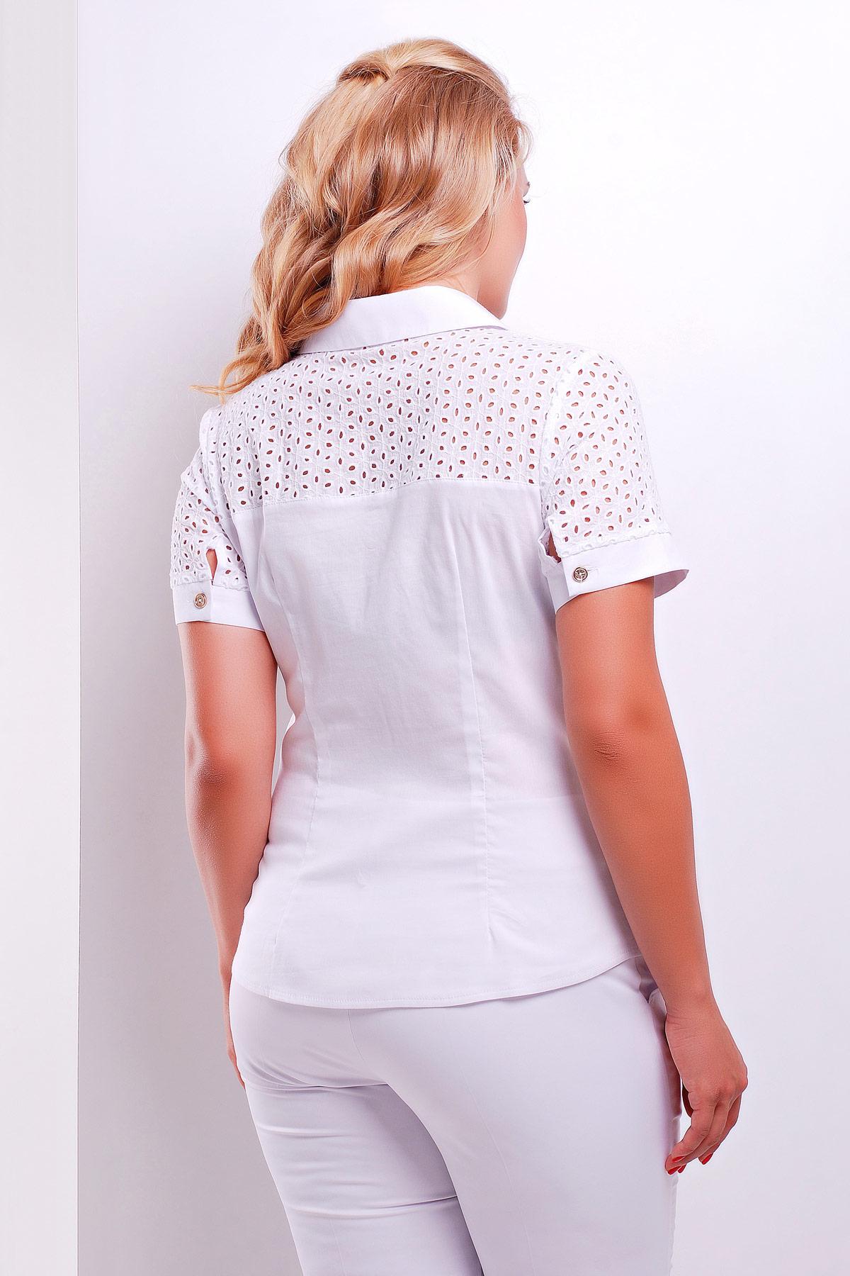 4a365f9216f женская блузка белая большого размера. блуза Фауста-Б к р.
