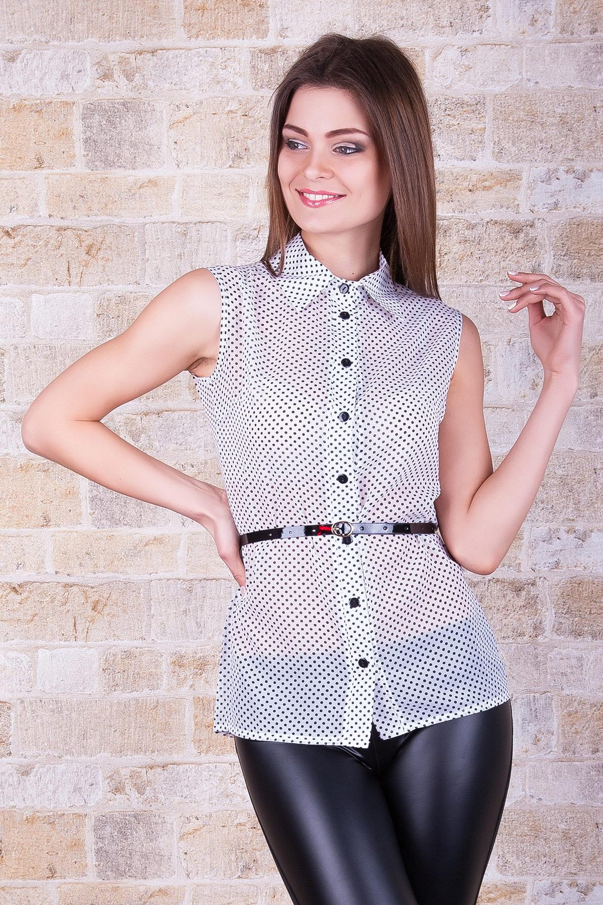 Купить блузку в горошек большого размера