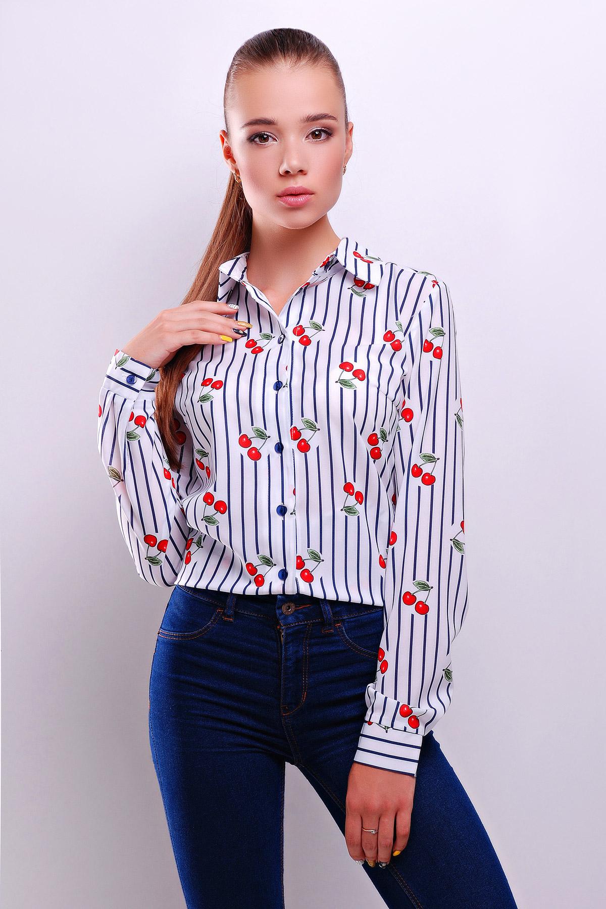 bf5c34d25e0 белая блузка из шифона с коротким рукавом. Полоска темно синяя блуза Чери  д р