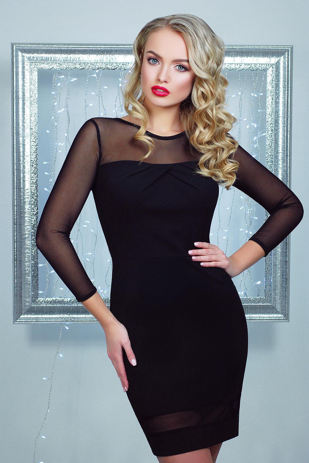 eb819bcde56 коктейльное черное платье. платье Агния д р. Цвет  черный