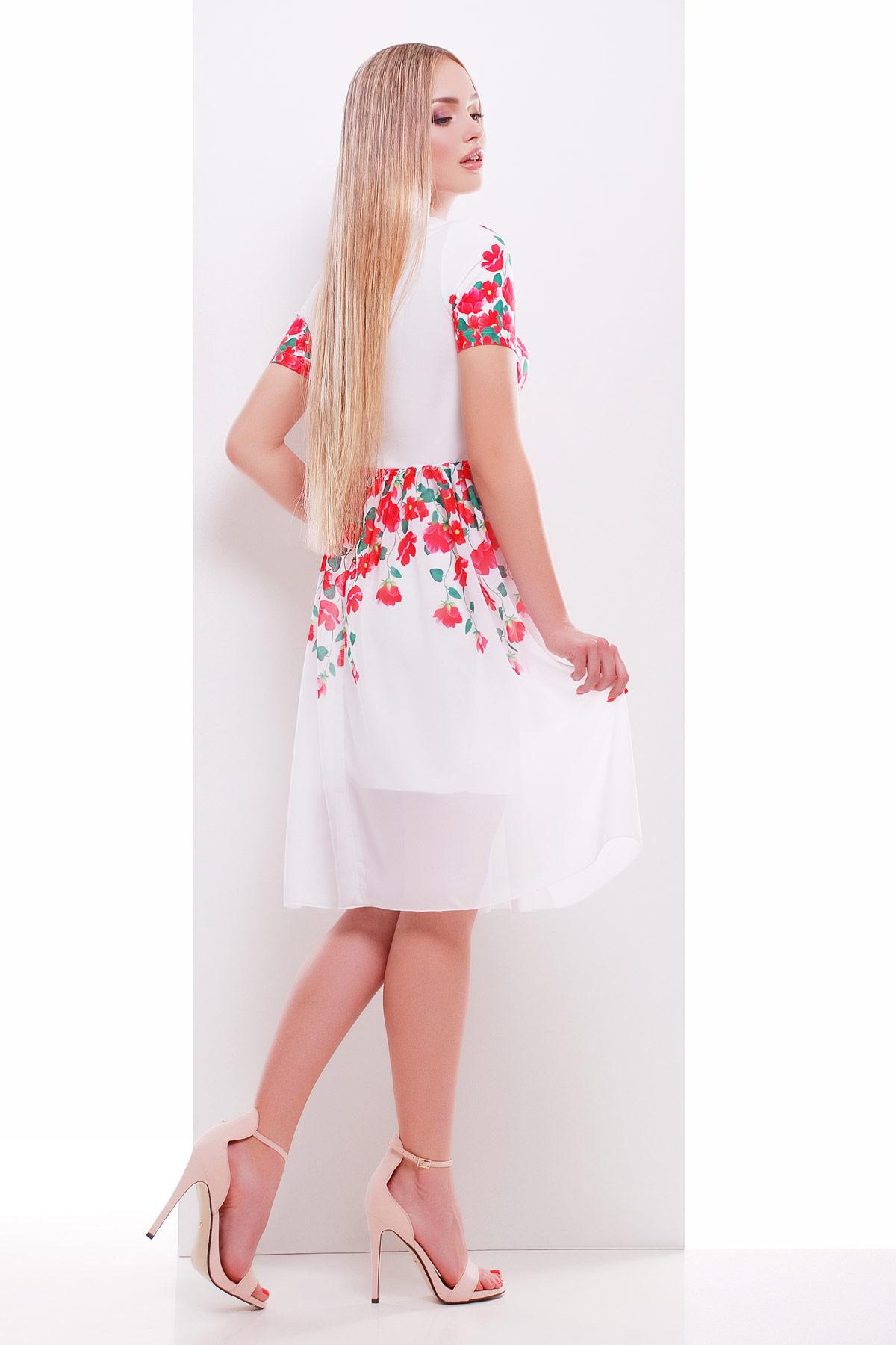 63fa0b2f83e ... белое платье с красными цветами. Красные цветы платье Мияна-КД к р.