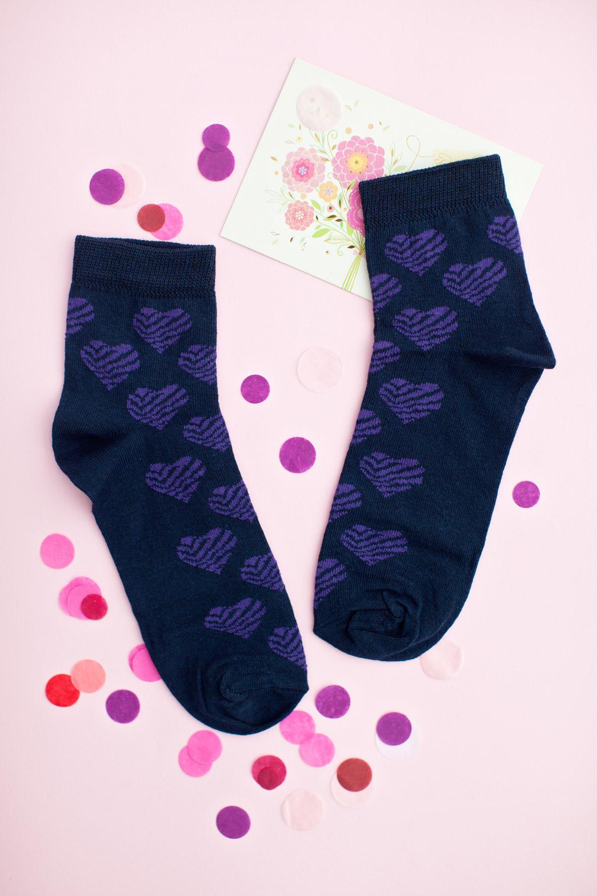Носки 1013. Цвет: т.синий-фиолетовый