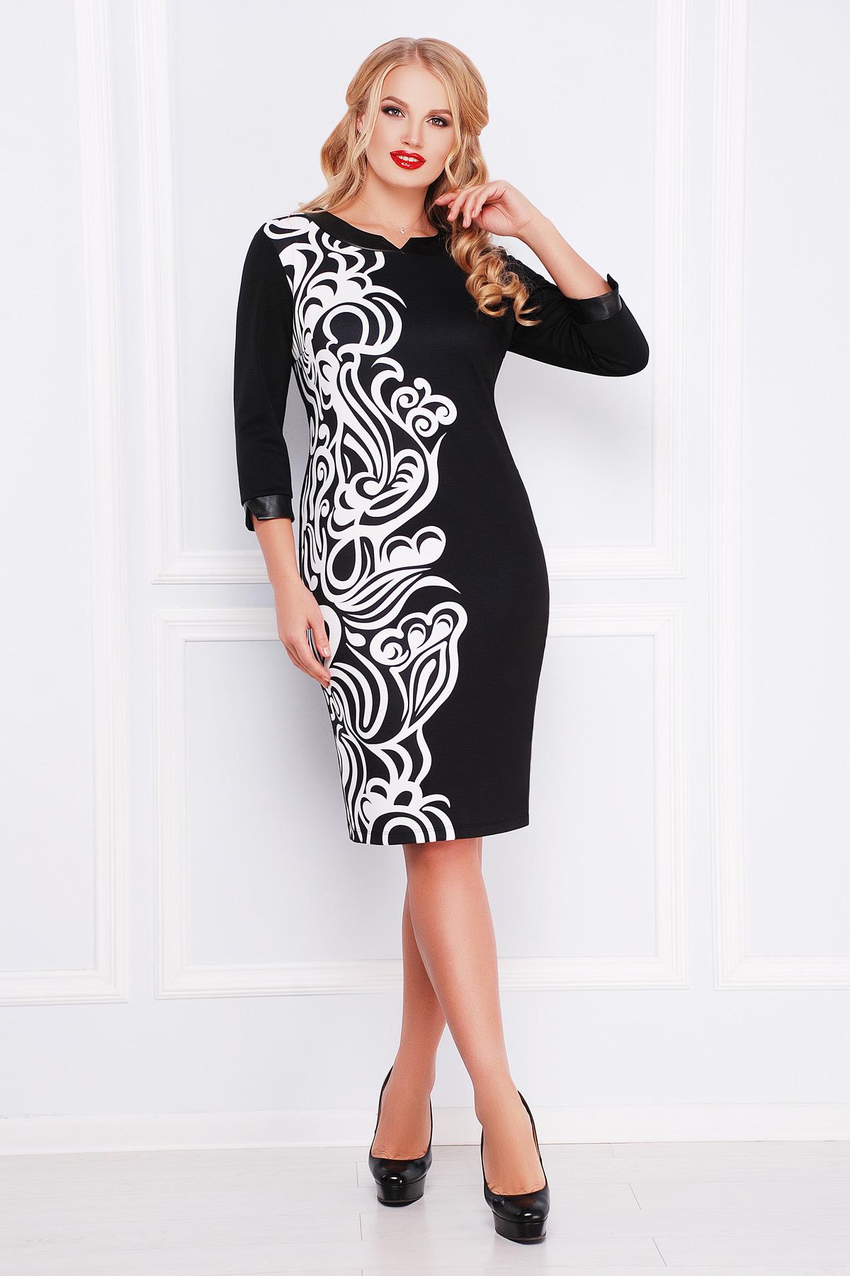 черно белое платье больших размеров евгения б др купить в украине