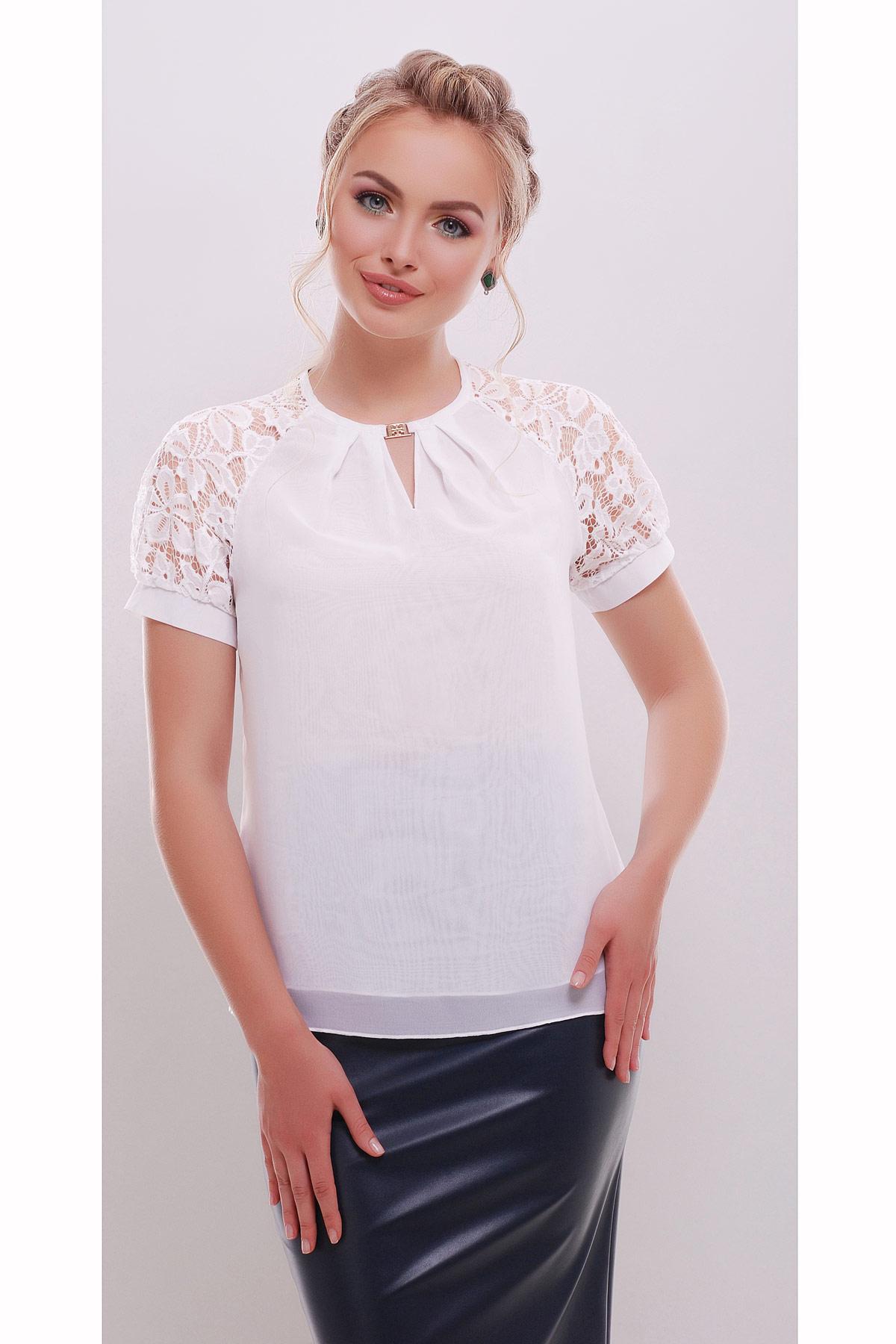Белые шифоновые блузки купить