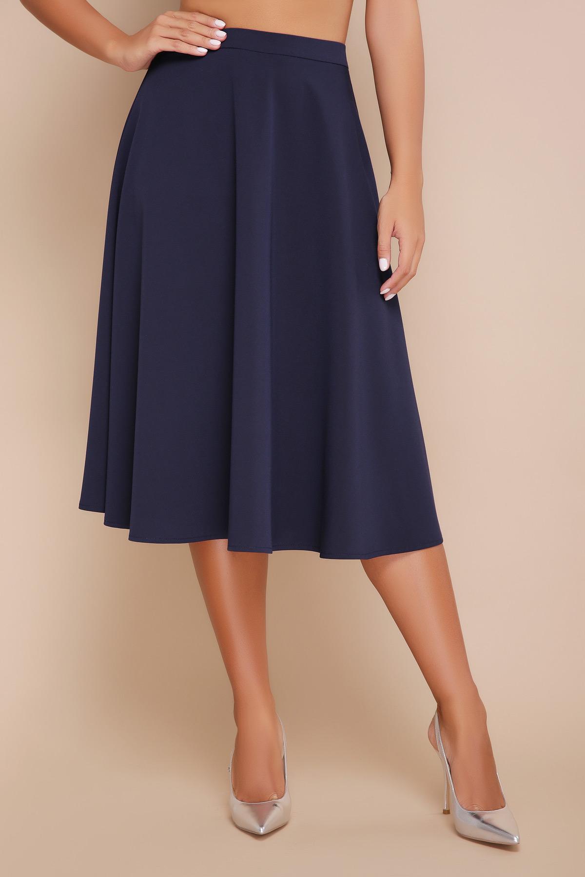 ee42f5c7f17 Синяя юбка ниже колен мод. №19К - купить в Украине
