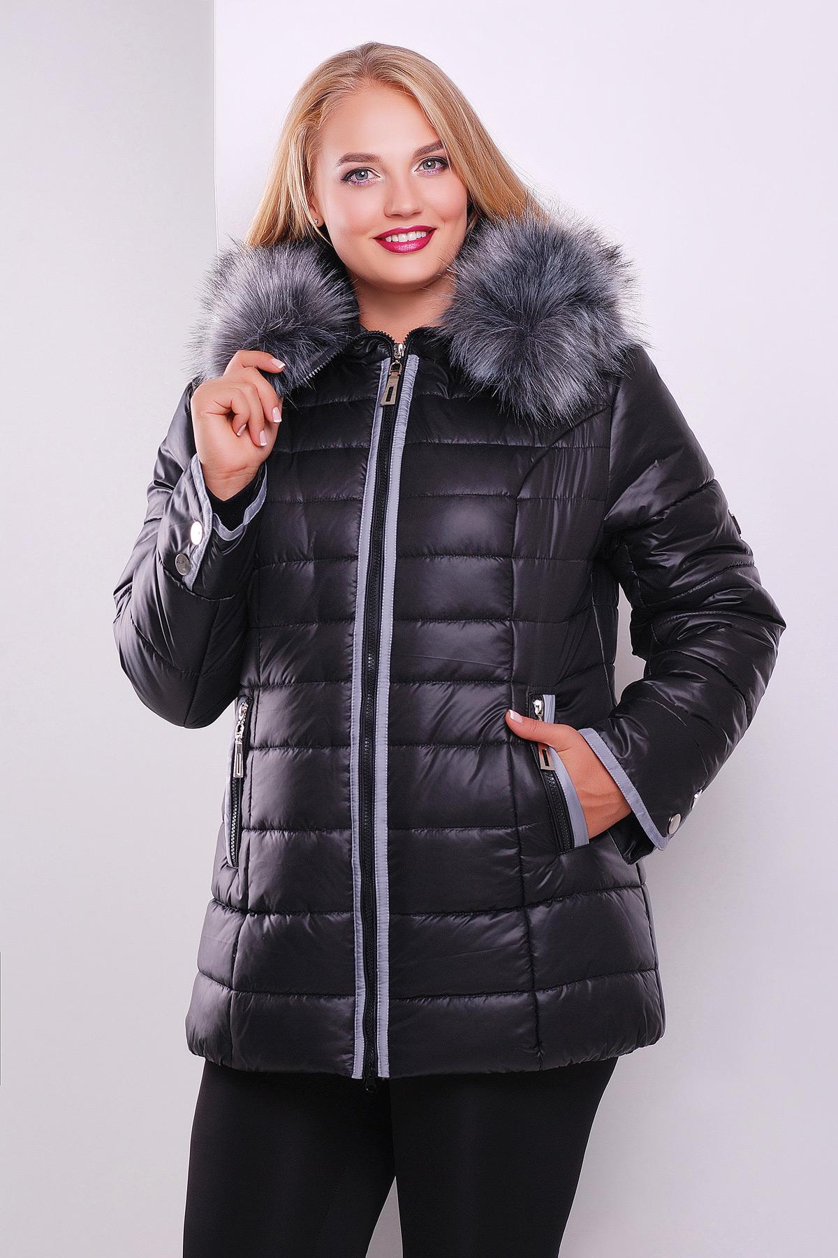 7f4086bdb51 Черная куртка с капюшоном на меху. куртка Glem-1. Цвет  черный