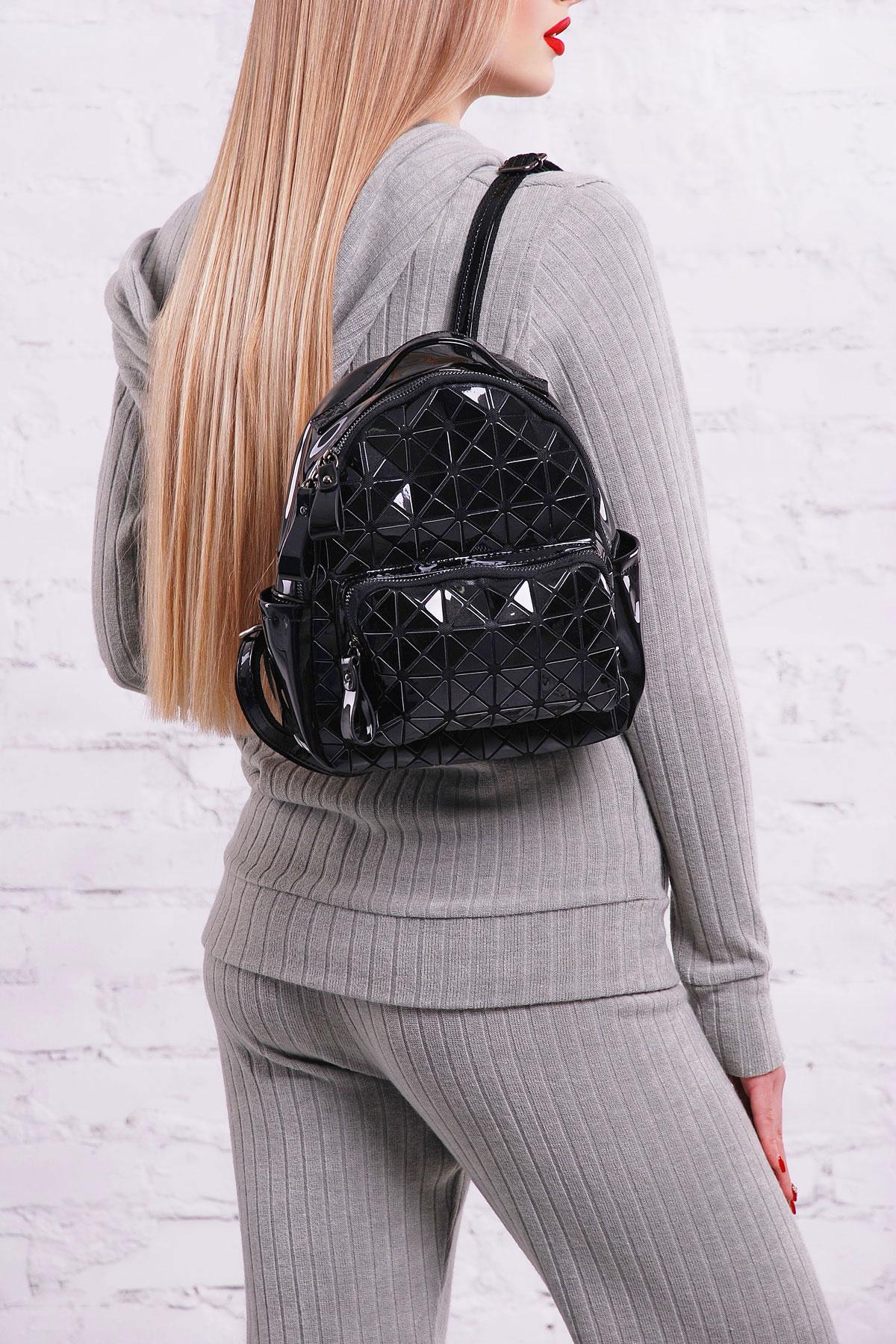 f80278f0b795 Цвет: черный купить · женский лакированный рюкзак цвета молоко. Рюкзак  26311. Цвет: черный цена