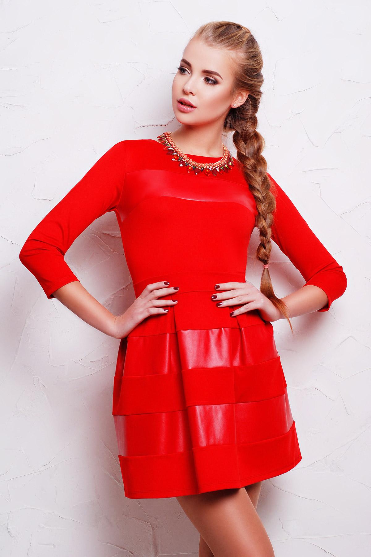 00c26d21a22 Платье Шакира д р. Цвет  красный-кожа - купить оптом и в розницу в ...