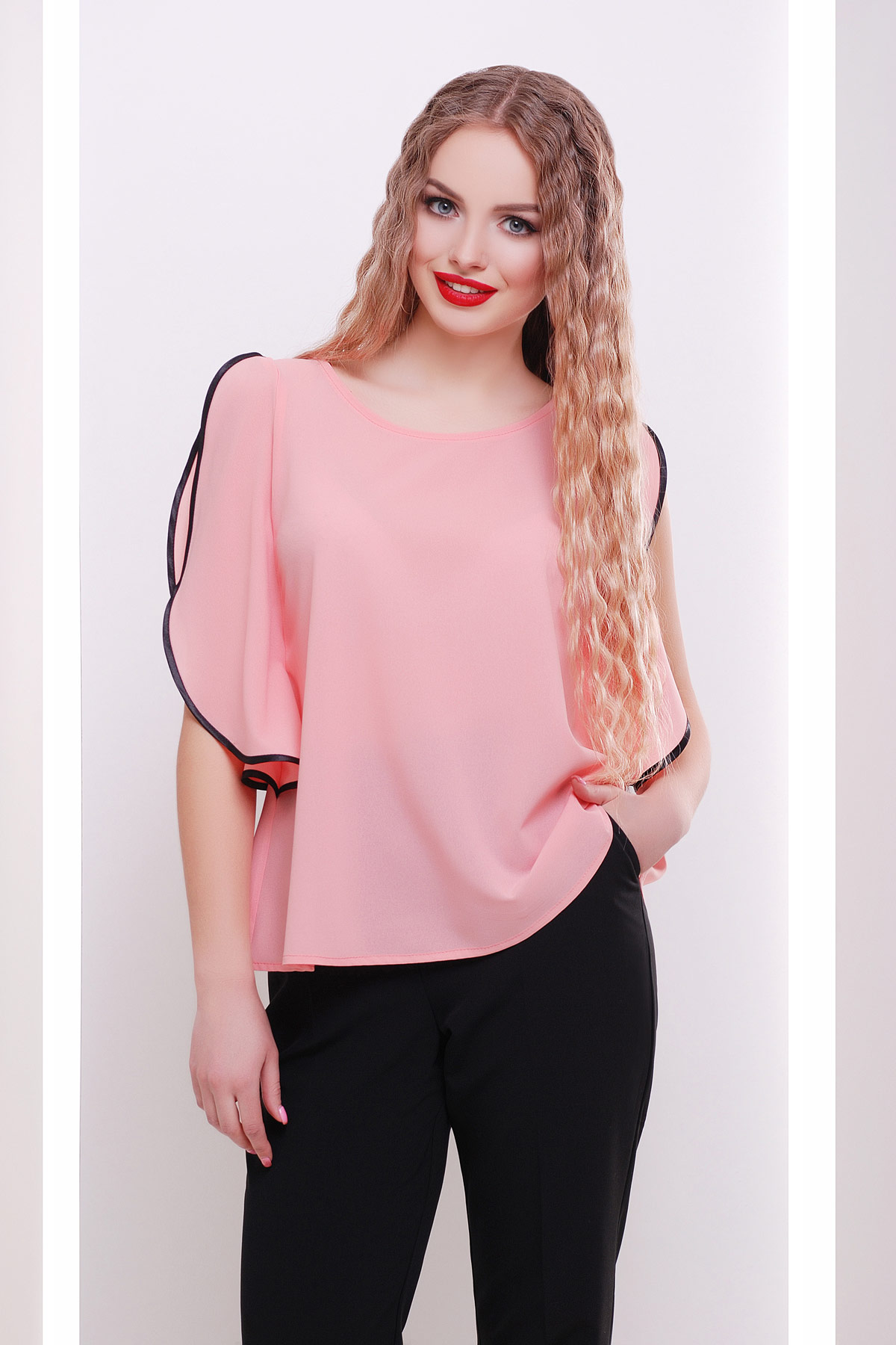 b9b5f925fc0 персиковая блузка свободного кроя. блуза Парма б р. Цвет  персик