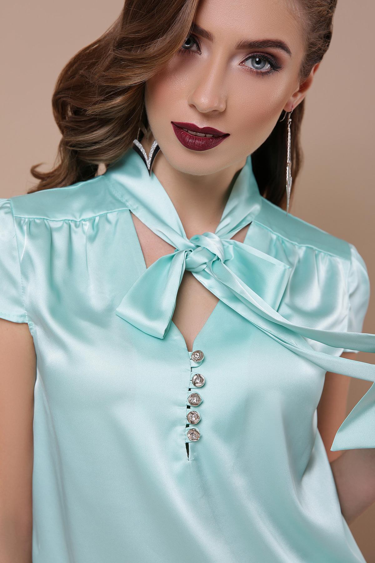 e86149cbf46 Цвет  мята купить  шелковая персиковая блузка. блуза Филипа к р.