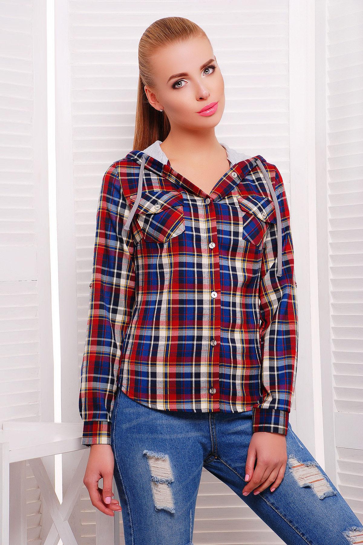 4d2d7160789 блуза Коломбо д р. Цвет  т.синий-серая отделка