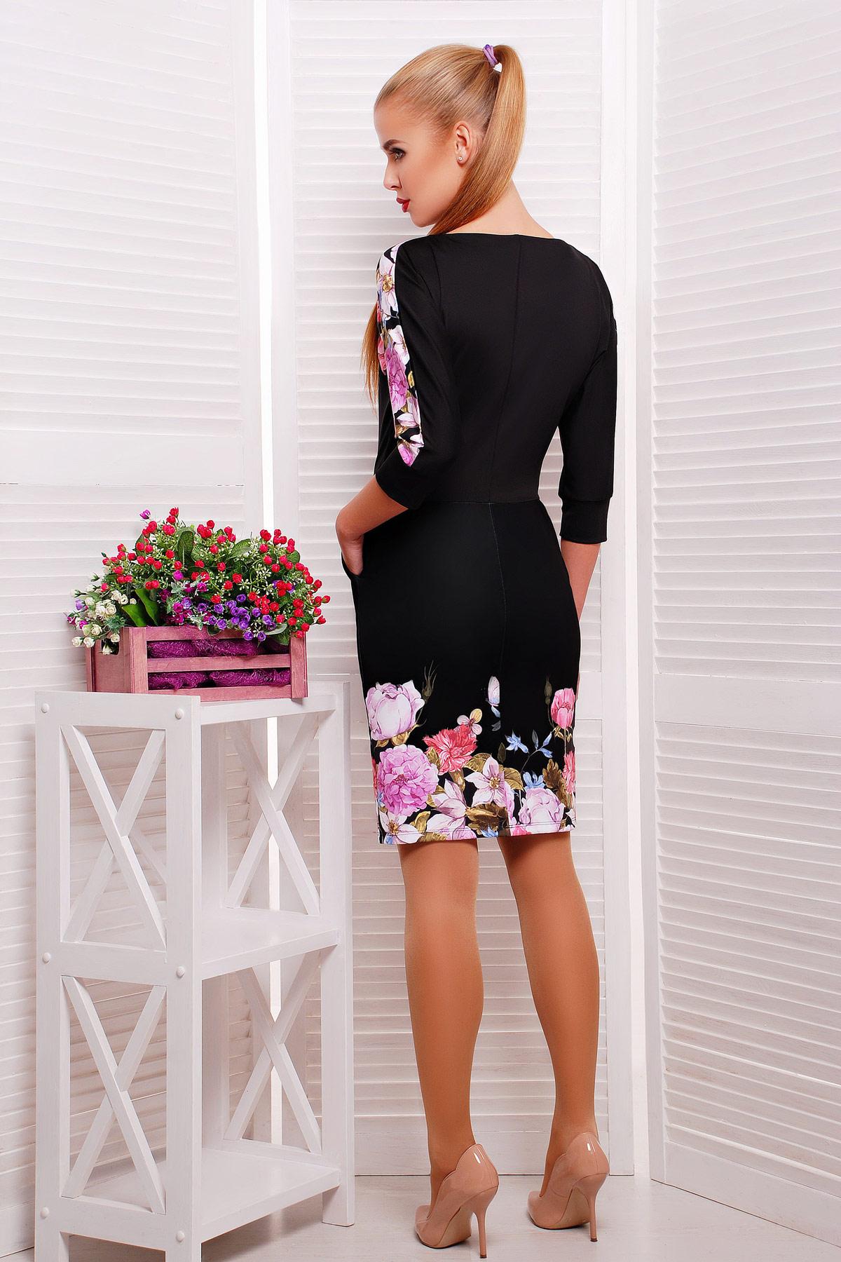 63c1a4df84b платье черного цвета с цветами. Полевые цветы платье Эльза д р. Цвет
