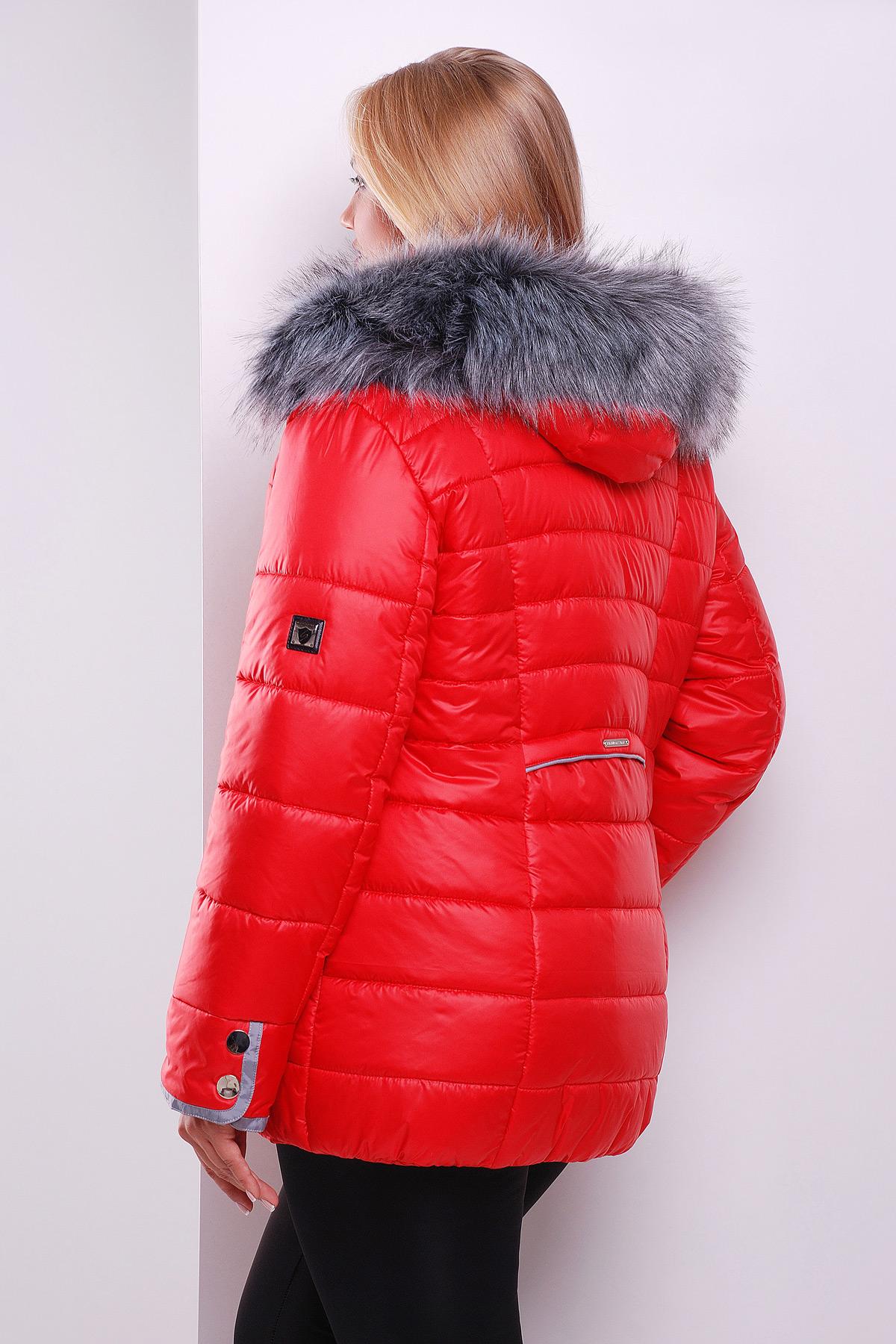 d89e4a063b5 Черная куртка с капюшоном на меху. куртка Glem-1. Цвет  красный купить